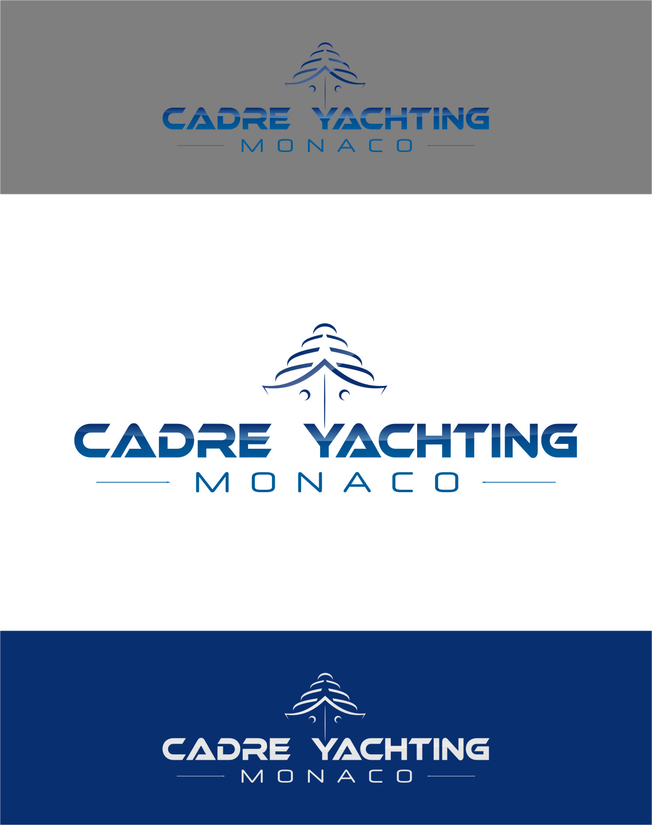 Logo Design by RoSyid Rono-Rene On Java - Entry No. 246 in the Logo Design Contest New Logo Design for Cadre Yachting Monaco.