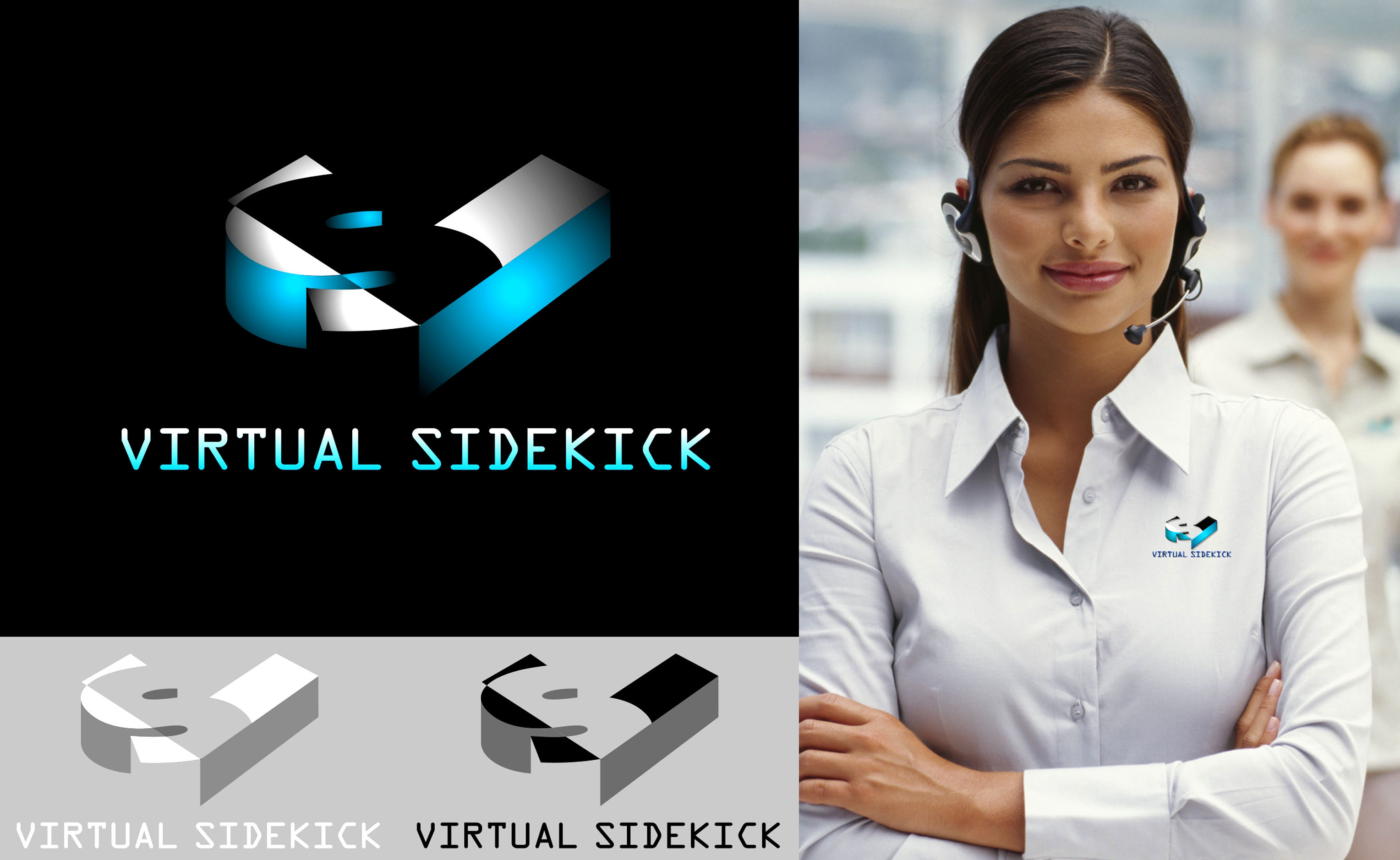 Logo Design by Private User - Entry No. 24 in the Logo Design Contest Fun Logo Design for Virtual Sidekick.