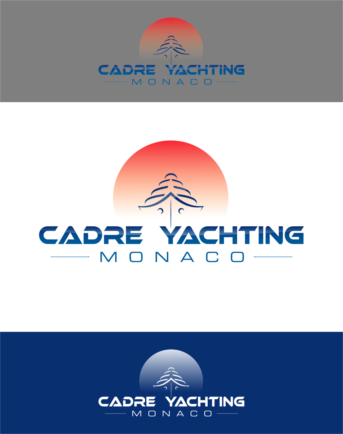 Logo Design by Ngepet_art - Entry No. 267 in the Logo Design Contest New Logo Design for Cadre Yachting Monaco.
