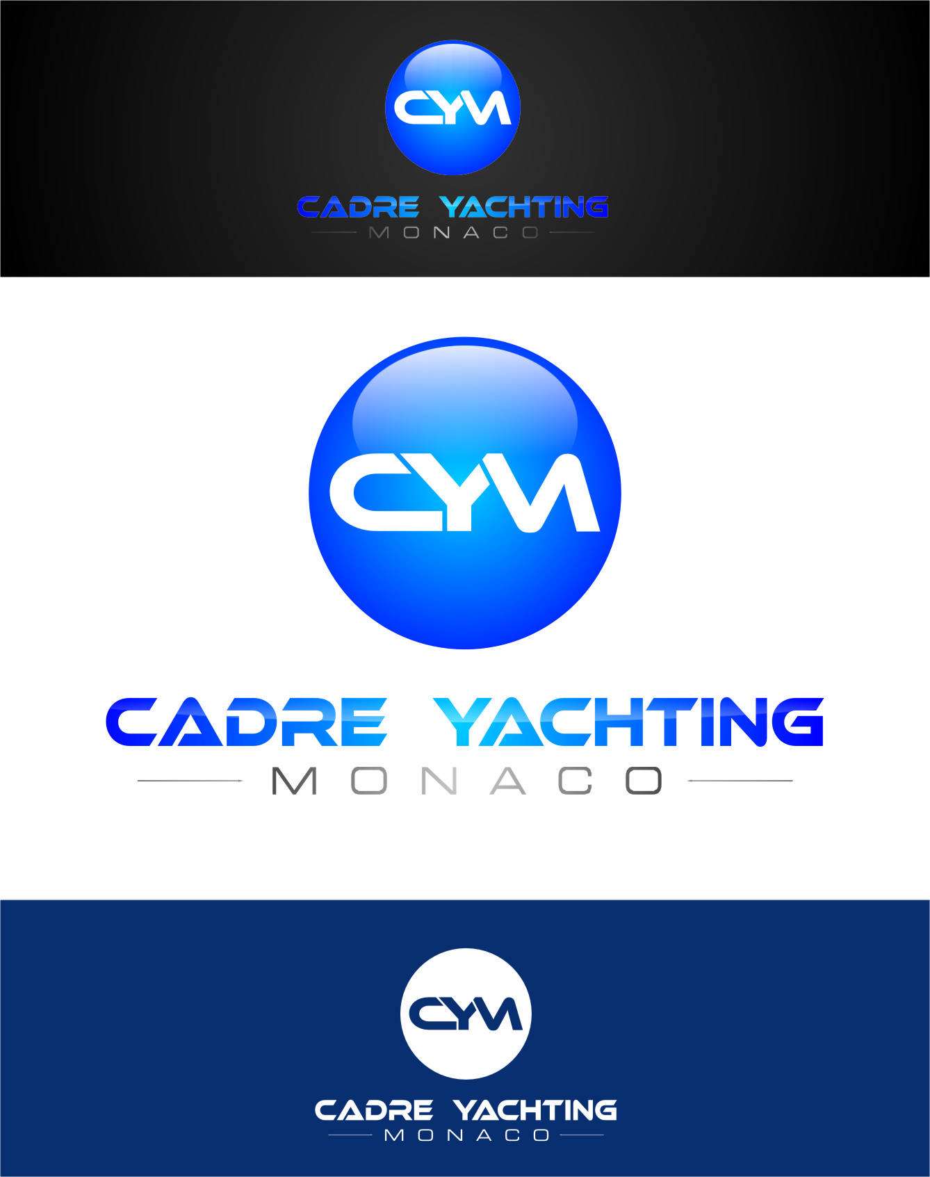 Logo Design by Ngepet_art - Entry No. 270 in the Logo Design Contest New Logo Design for Cadre Yachting Monaco.
