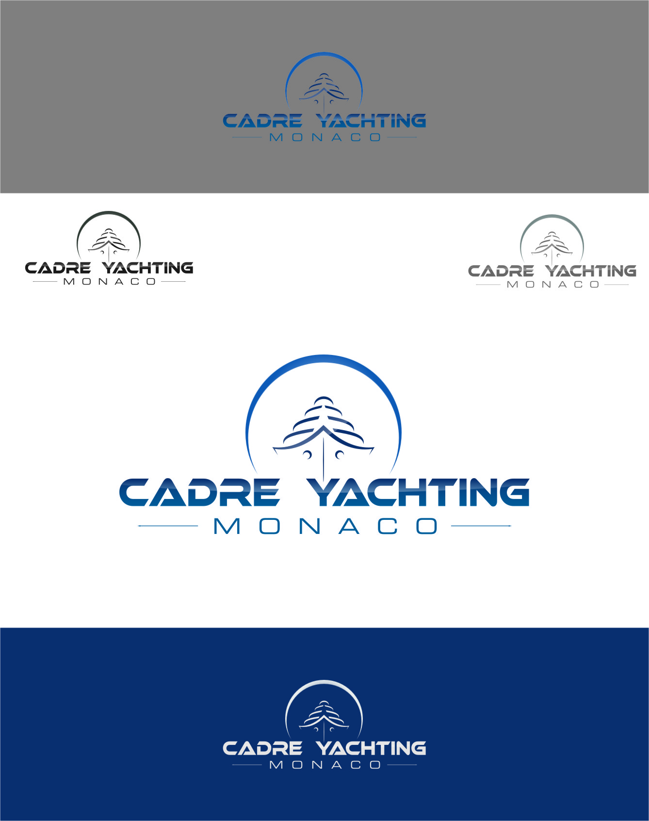 Logo Design by RasYa Muhammad Athaya - Entry No. 271 in the Logo Design Contest New Logo Design for Cadre Yachting Monaco.