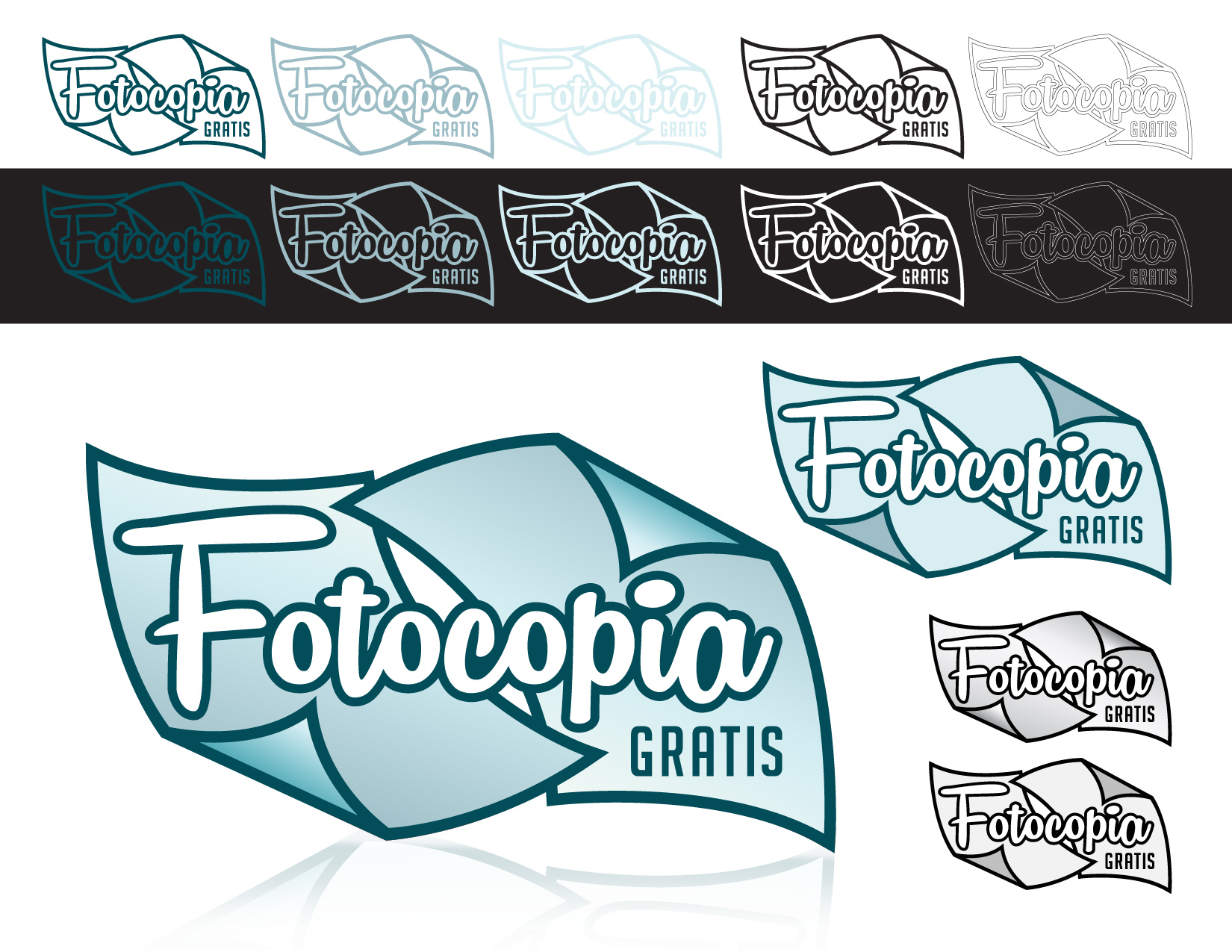 Logo Design by Jesus P Quiroga - Entry No. 170 in the Logo Design Contest Inspiring Logo Design for Fotocopiagratis.