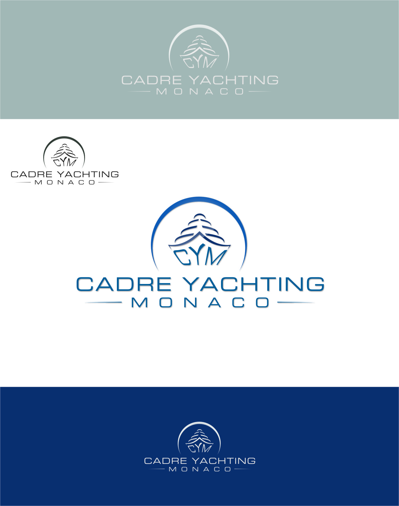 Logo Design by RoSyid Rono-Rene On Java - Entry No. 285 in the Logo Design Contest New Logo Design for Cadre Yachting Monaco.