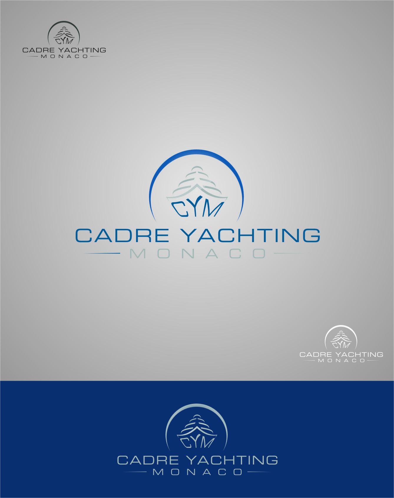 Logo Design by RasYa Muhammad Athaya - Entry No. 286 in the Logo Design Contest New Logo Design for Cadre Yachting Monaco.