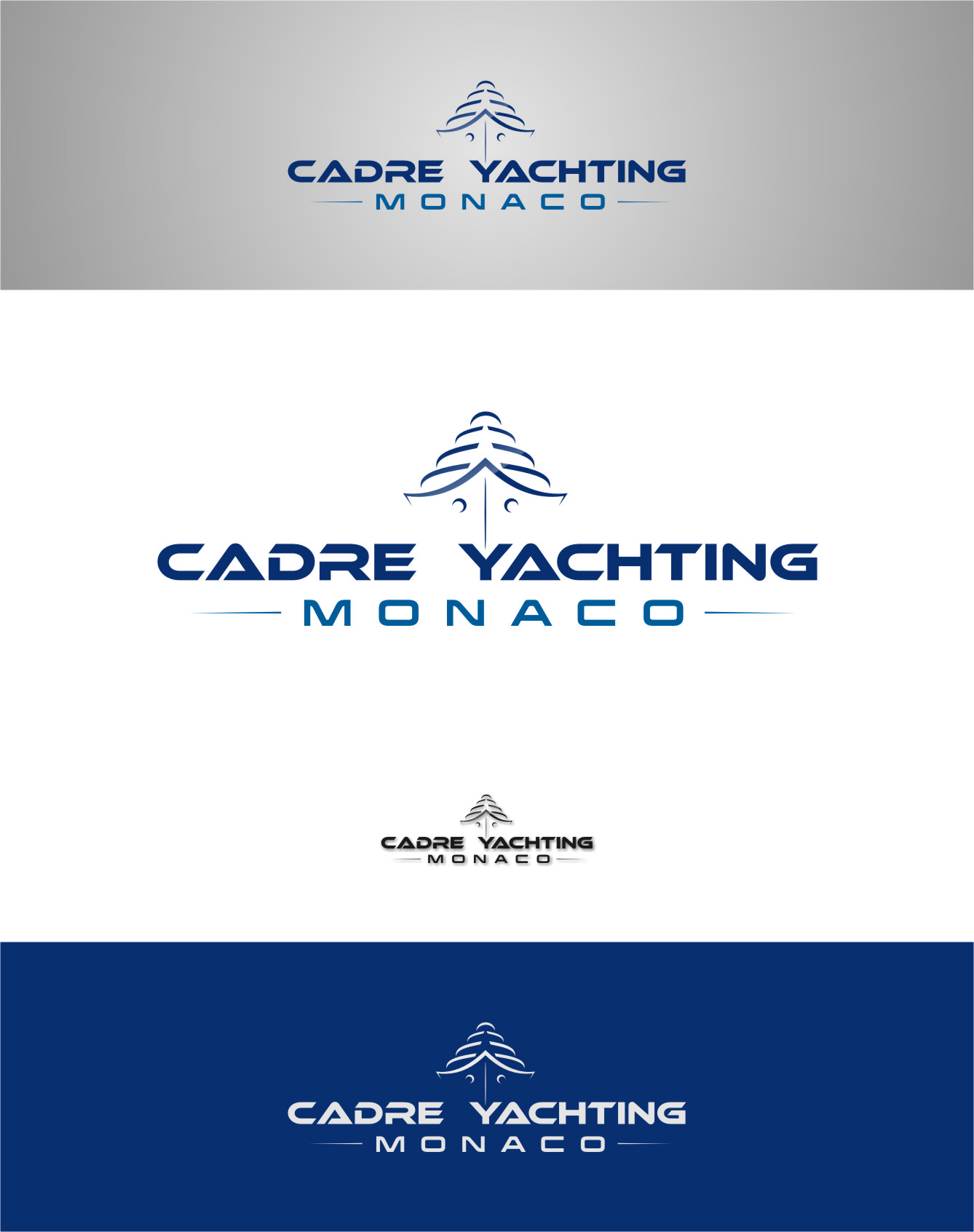 Logo Design by RasYa Muhammad Athaya - Entry No. 288 in the Logo Design Contest New Logo Design for Cadre Yachting Monaco.