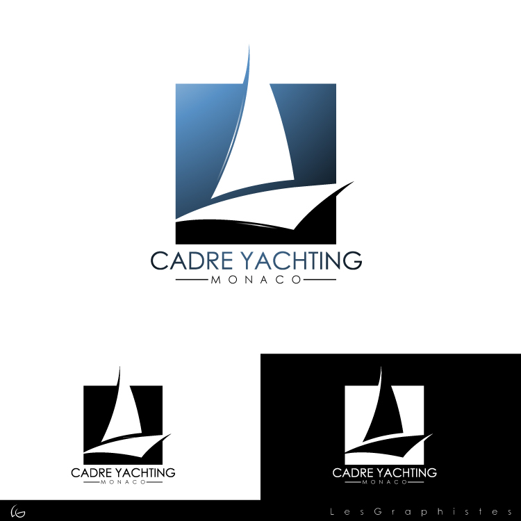 Logo Design by Les-Graphistes - Entry No. 290 in the Logo Design Contest New Logo Design for Cadre Yachting Monaco.
