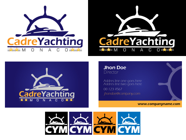Logo Design by ronik.web - Entry No. 304 in the Logo Design Contest New Logo Design for Cadre Yachting Monaco.