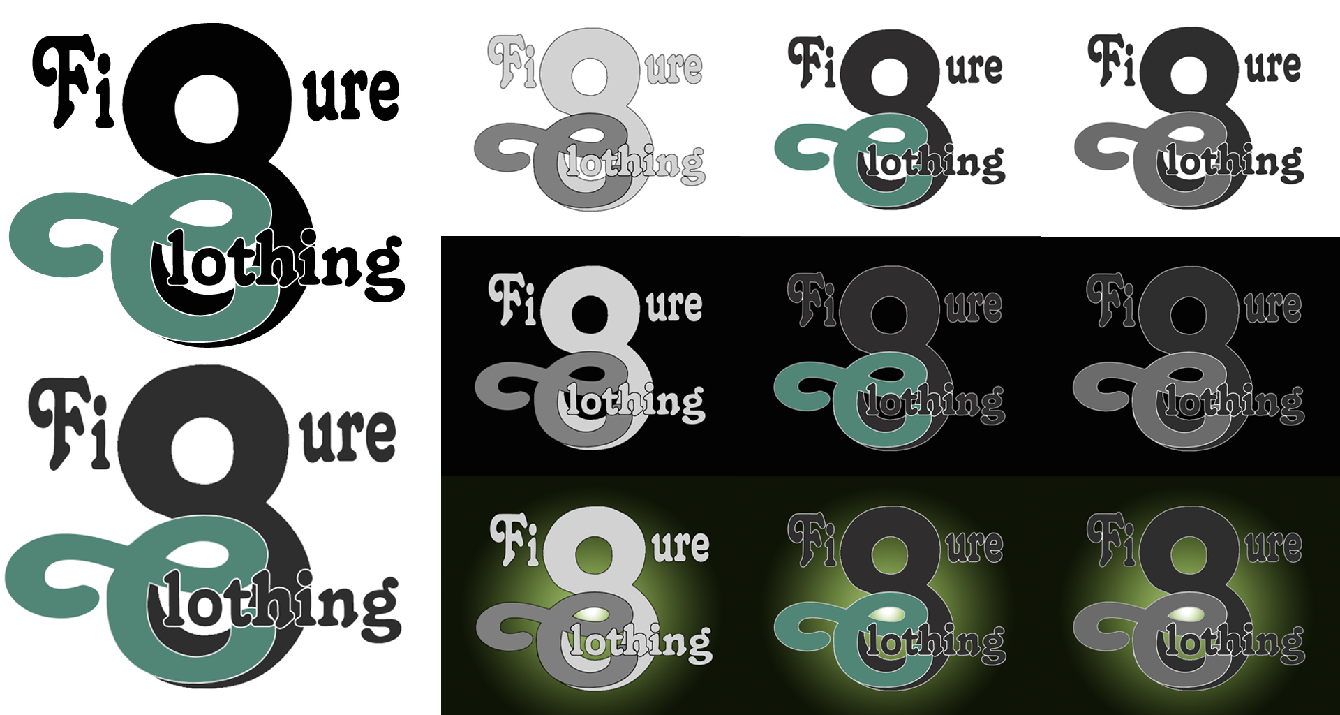 Logo Design by AJ-Unlimited - Entry No. 15 in the Logo Design Contest Artistic Logo Design for Figure Eight Clothing.