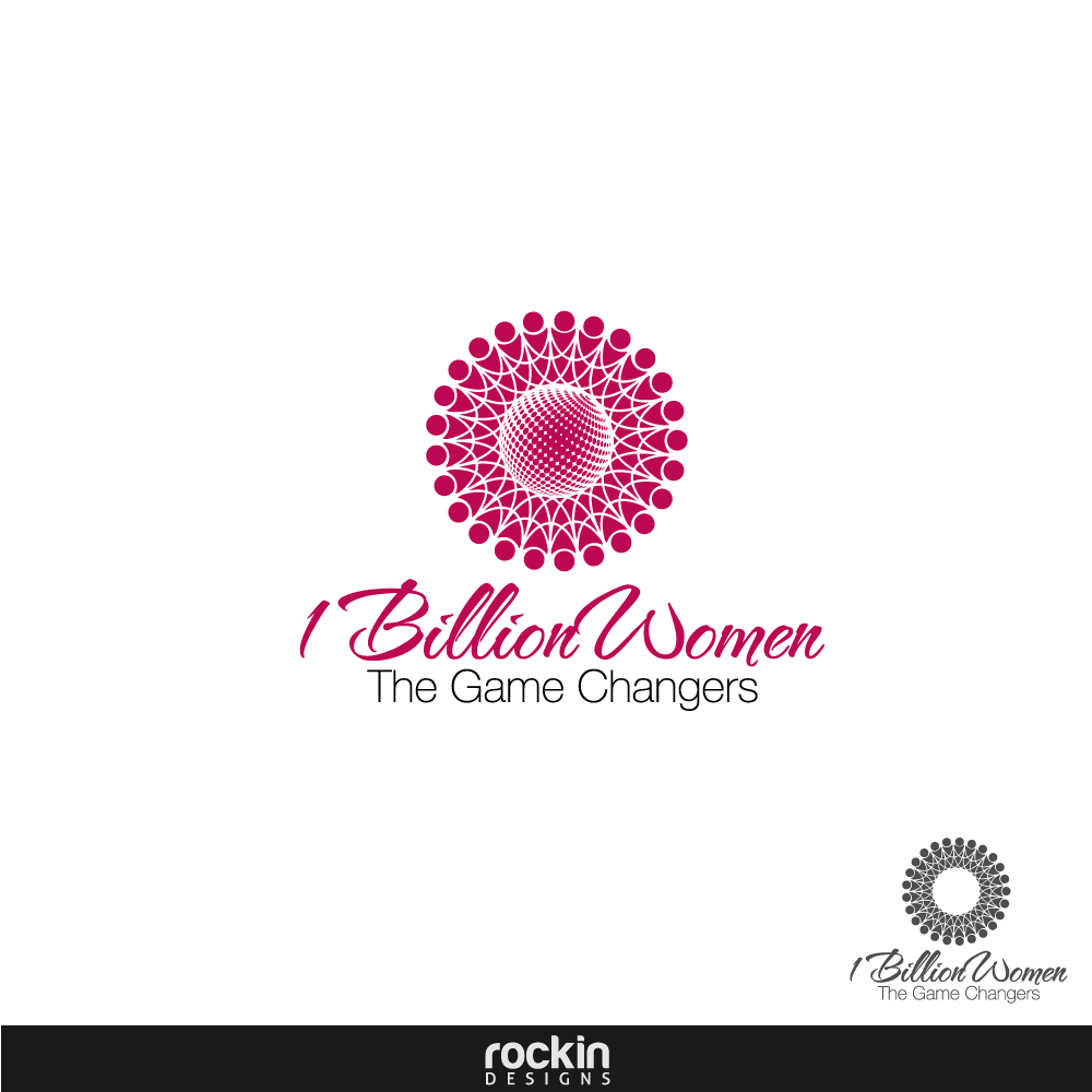 Logo Design by rockin - Entry No. 15 in the Logo Design Contest Fun Logo Design for 1BillionWomen.