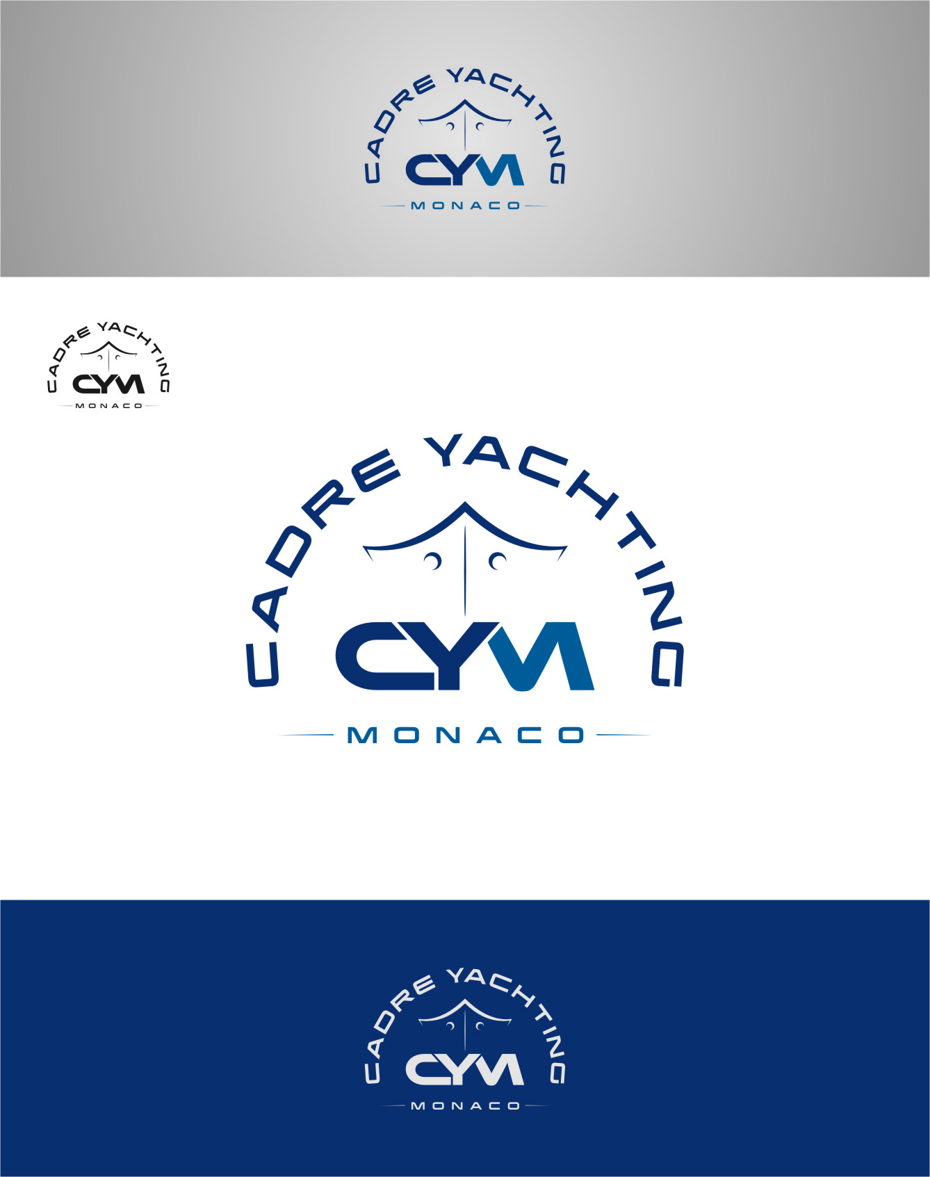 Logo Design by RoSyid Rono-Rene On Java - Entry No. 317 in the Logo Design Contest New Logo Design for Cadre Yachting Monaco.
