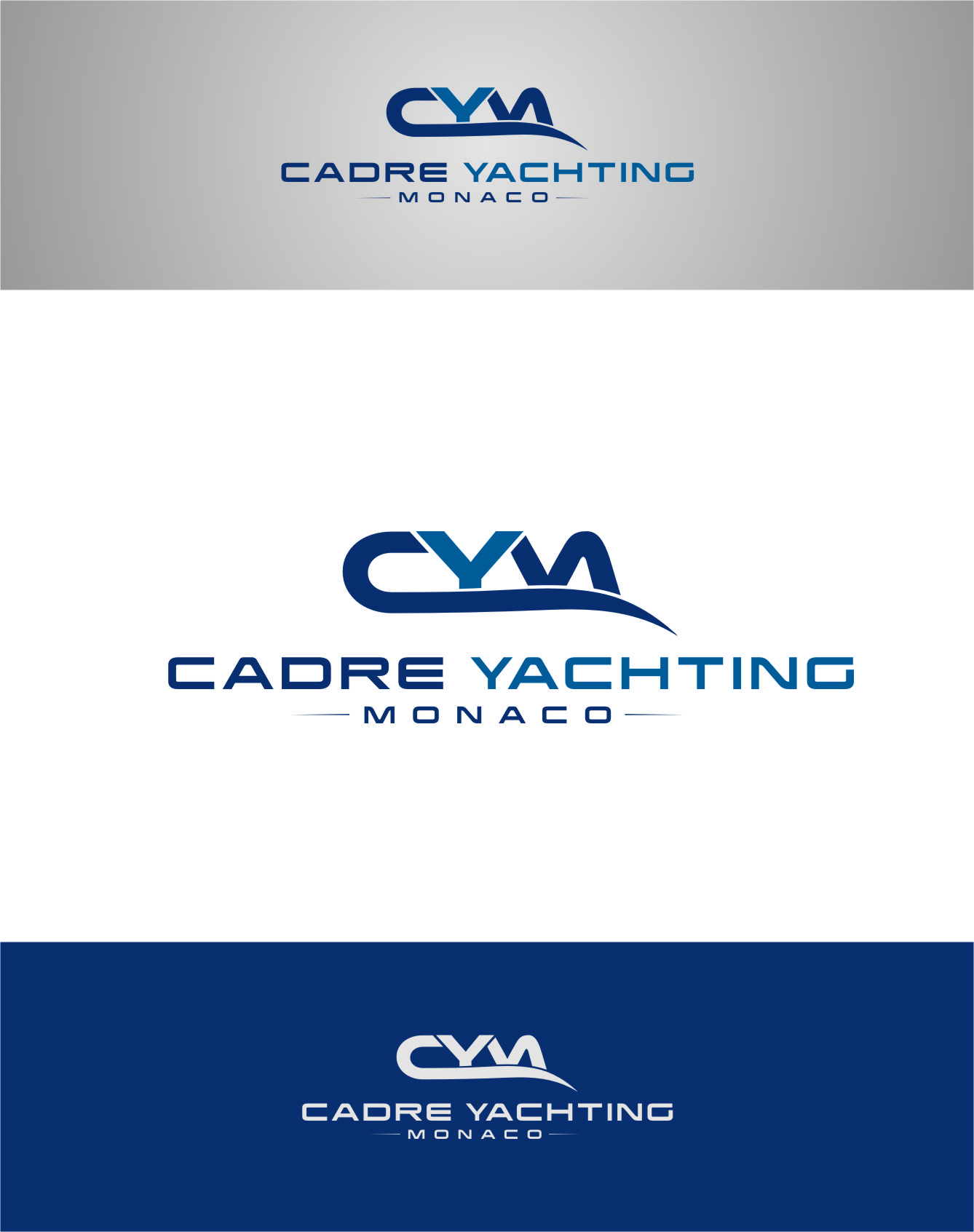 Logo Design by Ngepet_art - Entry No. 319 in the Logo Design Contest New Logo Design for Cadre Yachting Monaco.