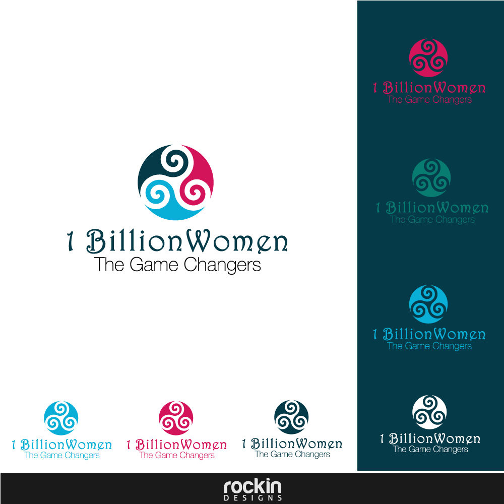 Logo Design by rockin - Entry No. 23 in the Logo Design Contest Fun Logo Design for 1BillionWomen.
