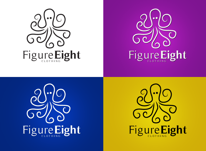 Logo Design by Jan Chua - Entry No. 28 in the Logo Design Contest Artistic Logo Design for Figure Eight Clothing.