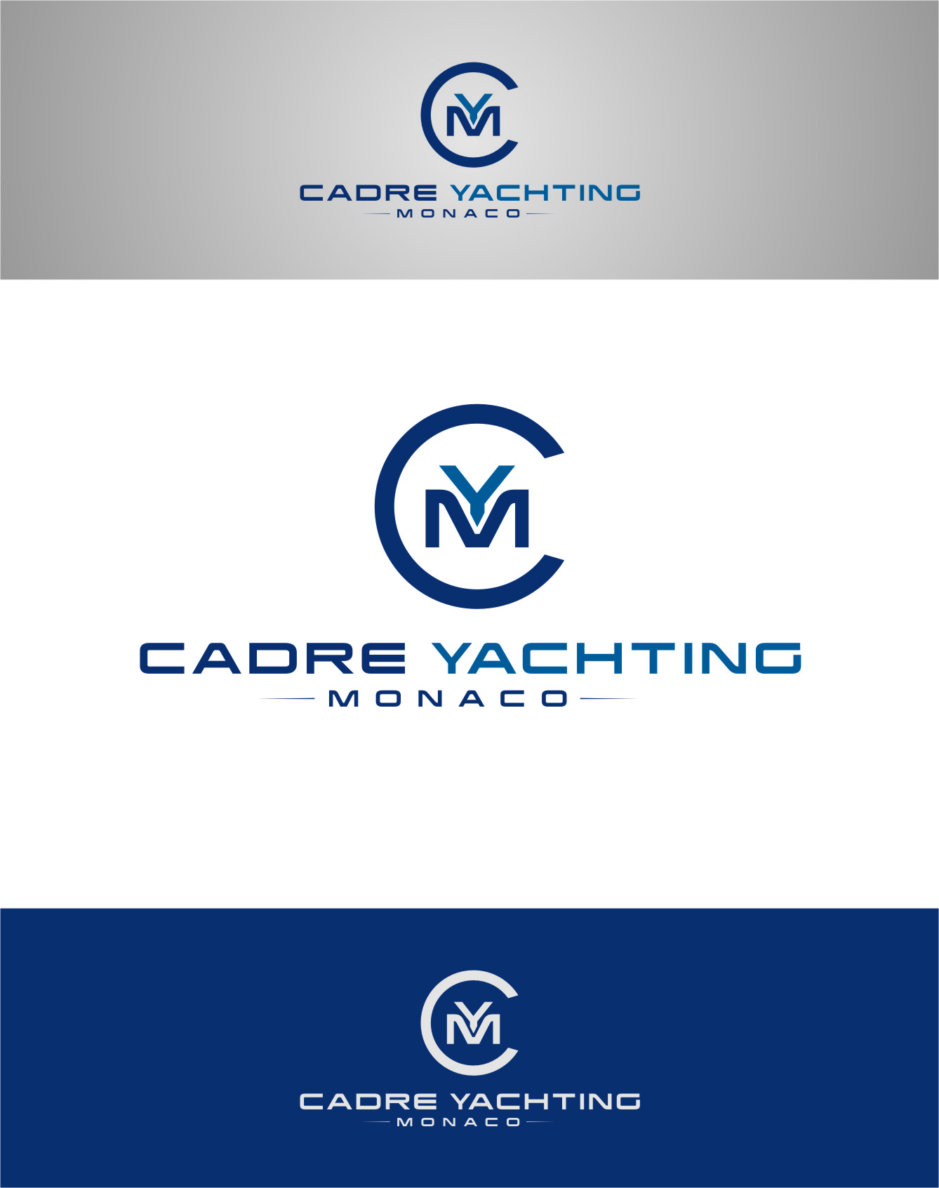 Logo Design by RasYa Muhammad Athaya - Entry No. 329 in the Logo Design Contest New Logo Design for Cadre Yachting Monaco.