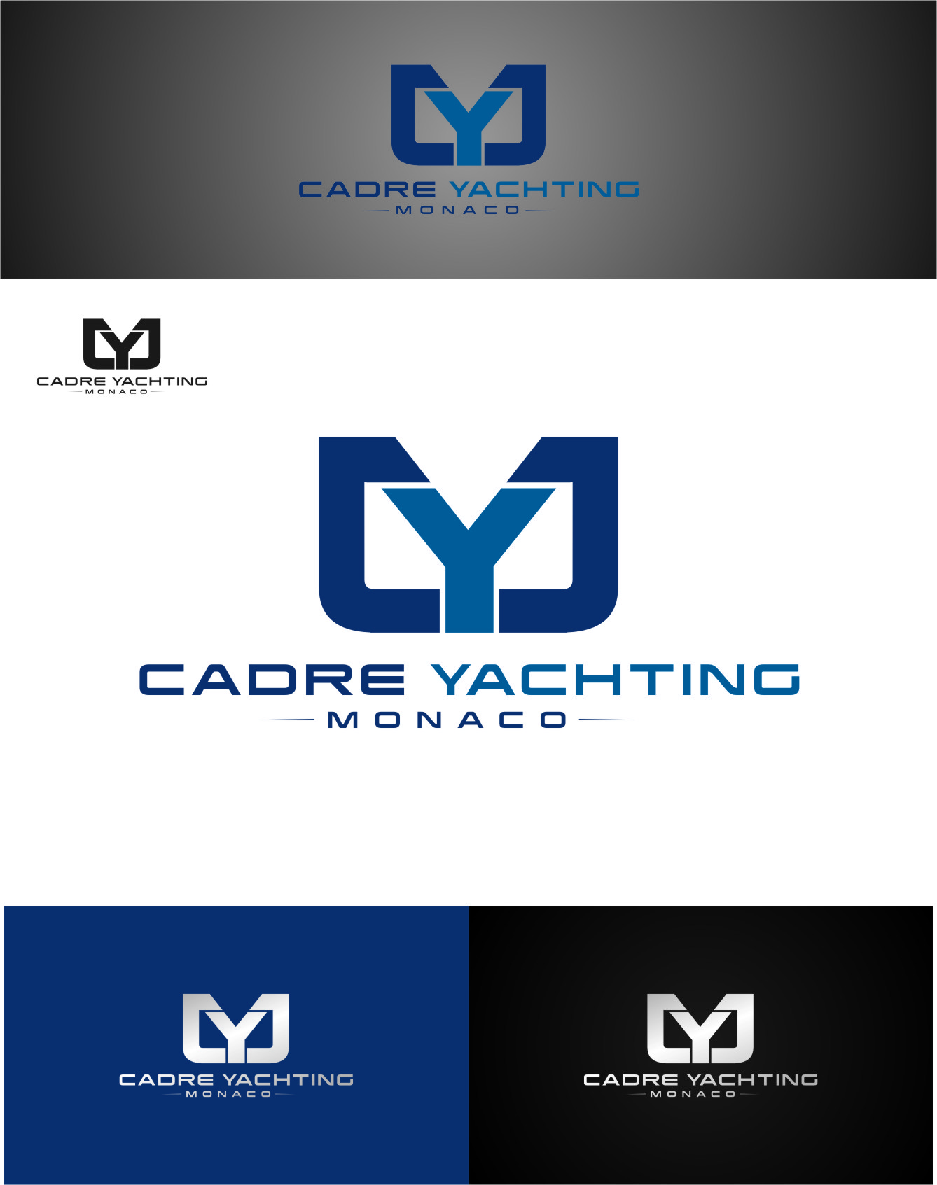 Logo Design by Ngepet_art - Entry No. 330 in the Logo Design Contest New Logo Design for Cadre Yachting Monaco.