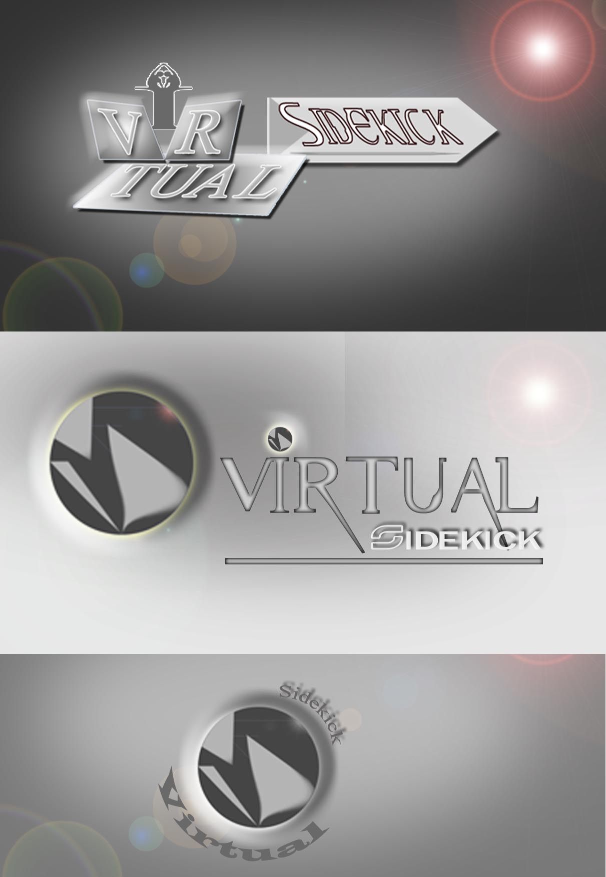 Logo Design by faza-bejo - Entry No. 72 in the Logo Design Contest Fun Logo Design for Virtual Sidekick.