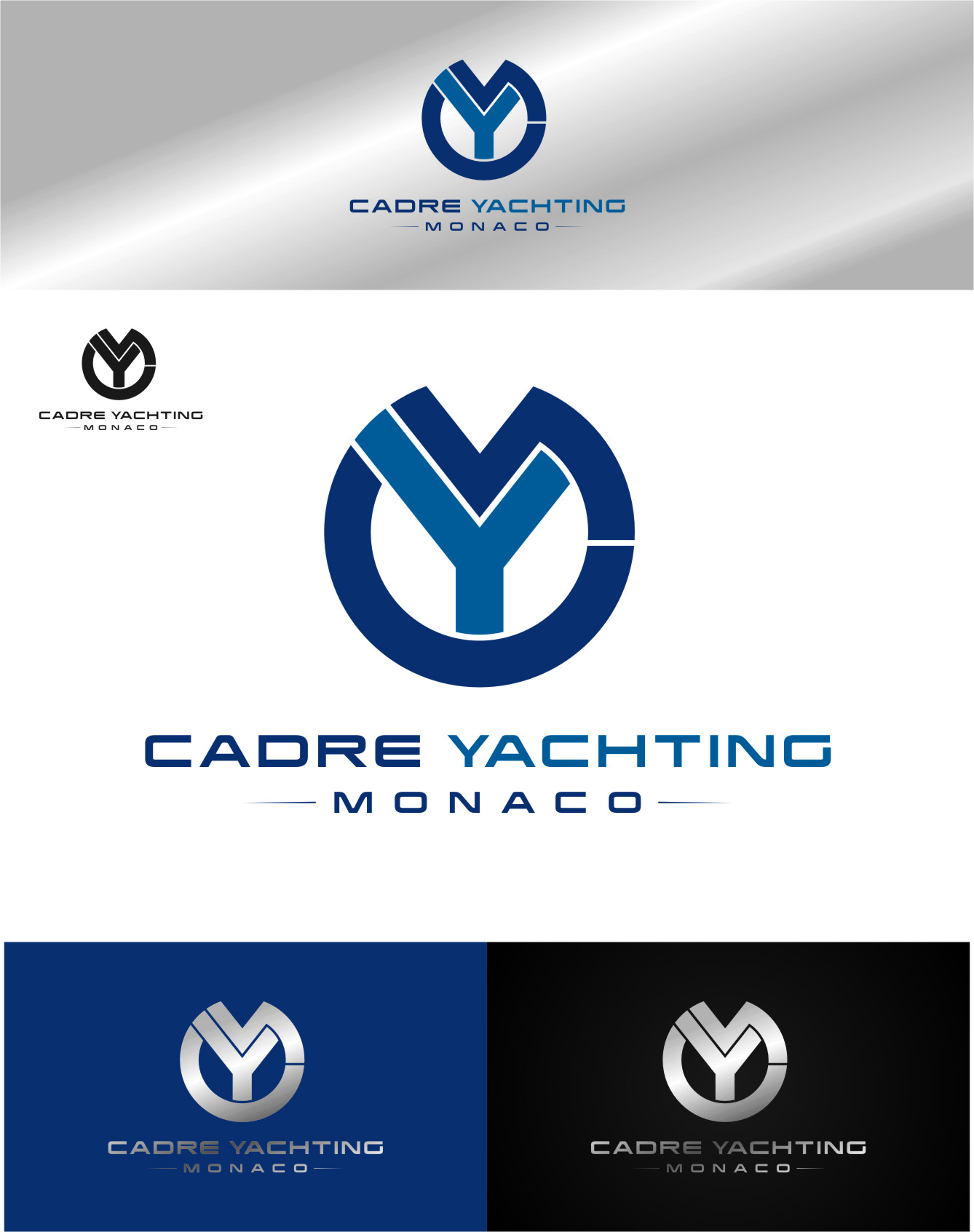 Logo Design by Ngepet_art - Entry No. 339 in the Logo Design Contest New Logo Design for Cadre Yachting Monaco.