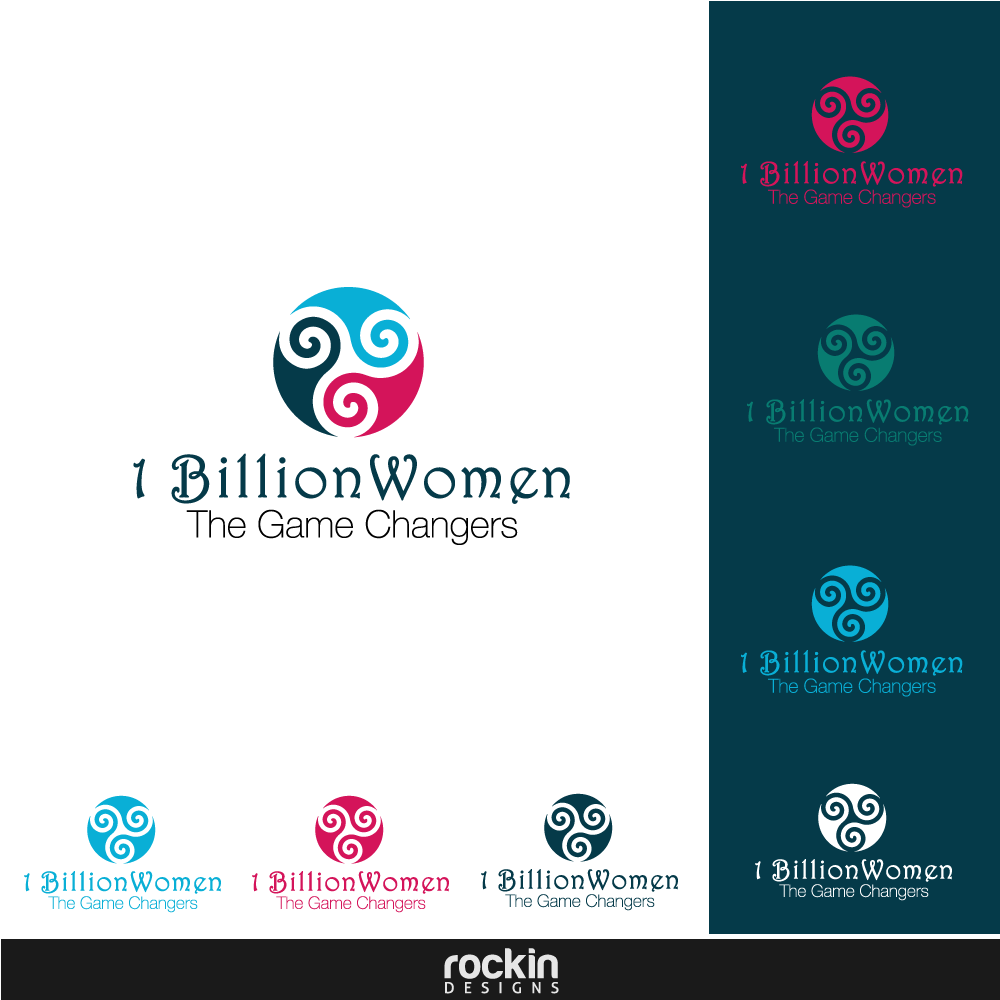 Logo Design by rockin - Entry No. 32 in the Logo Design Contest Fun Logo Design for 1BillionWomen.