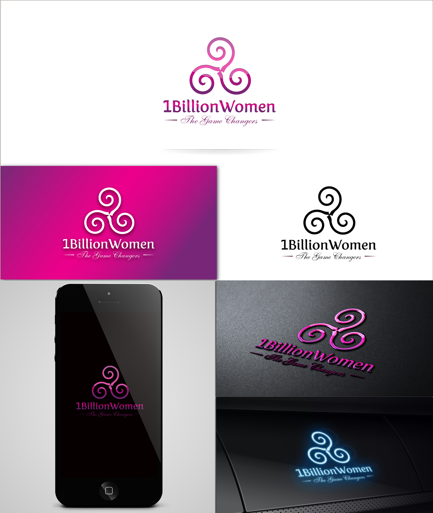 Logo Design by Zartistic Rehman - Entry No. 38 in the Logo Design Contest Fun Logo Design for 1BillionWomen.