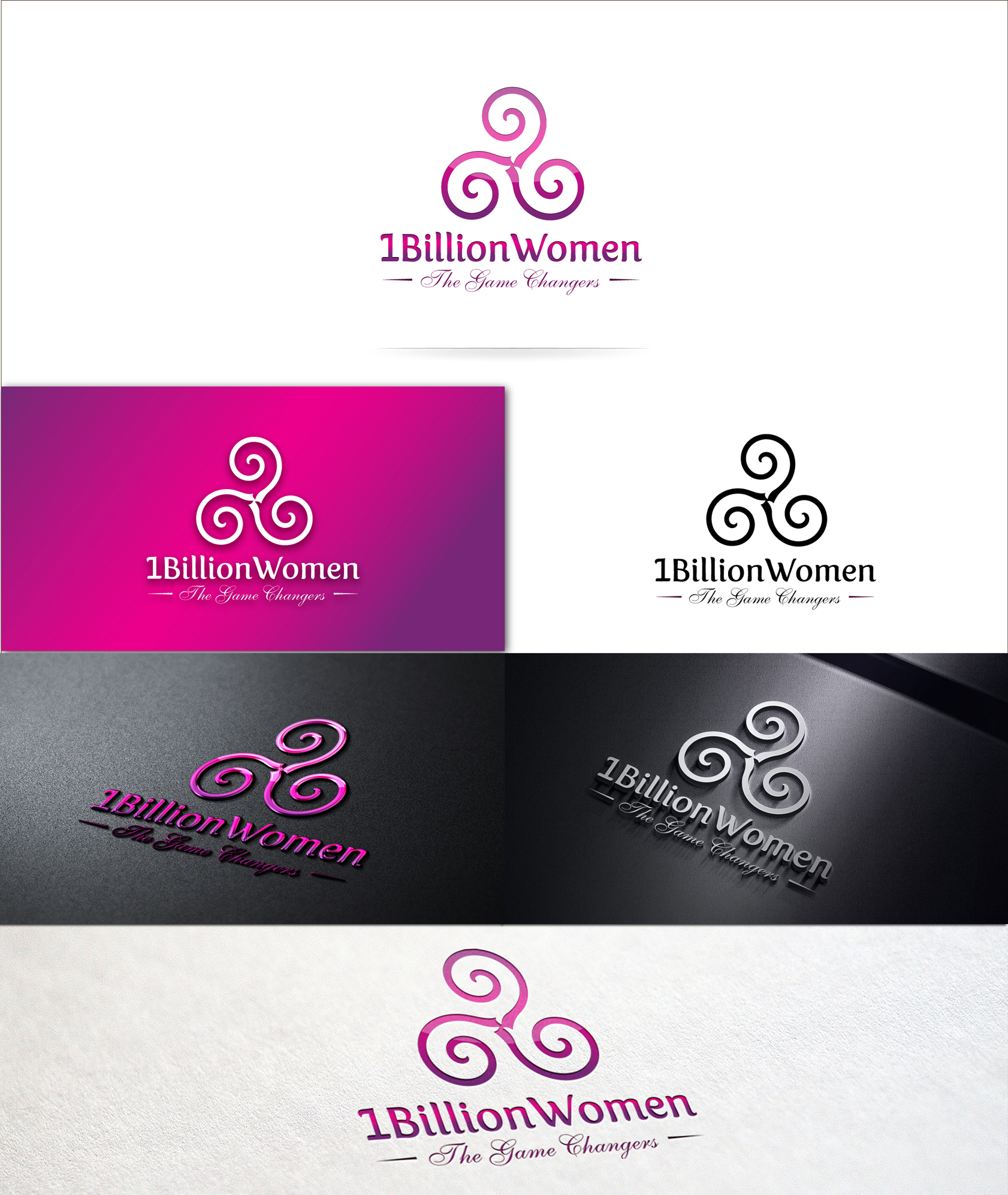 Logo Design by Zartistic Rehman - Entry No. 40 in the Logo Design Contest Fun Logo Design for 1BillionWomen.