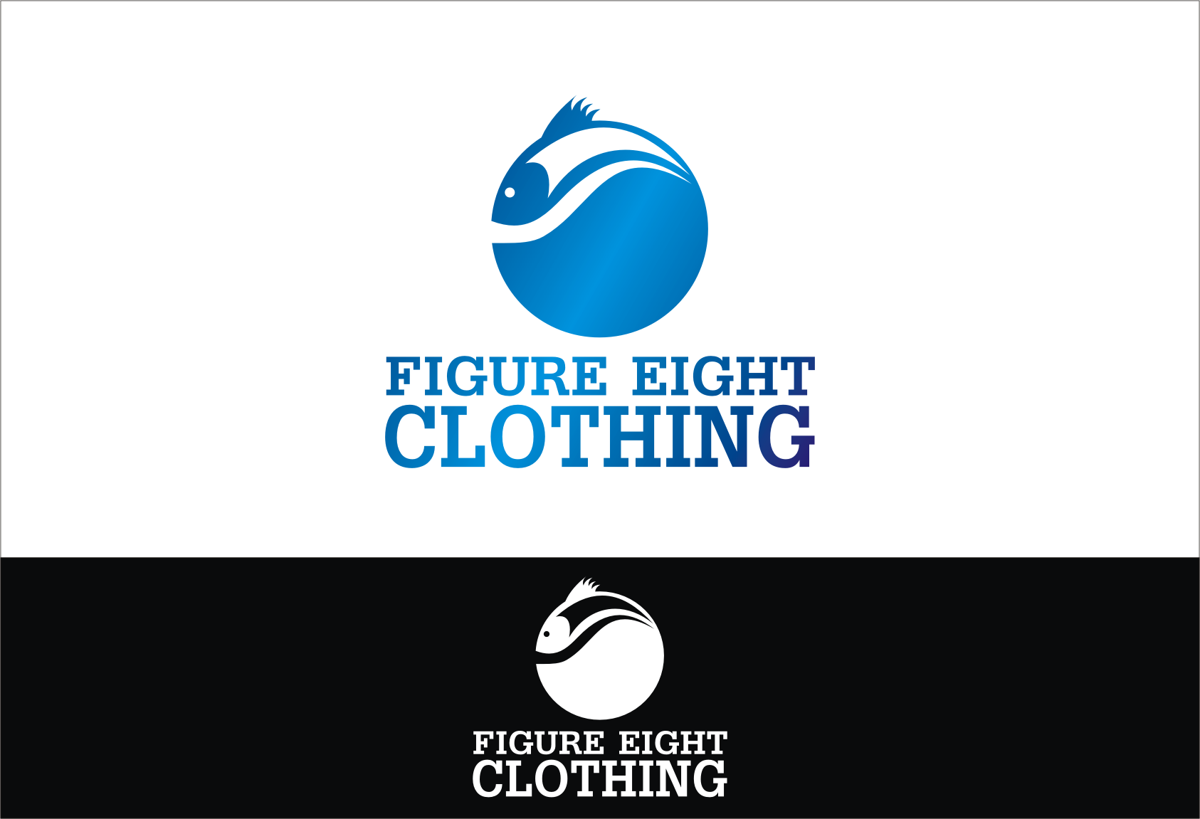 Logo Design by Denny Fayana - Entry No. 63 in the Logo Design Contest Artistic Logo Design for Figure Eight Clothing.