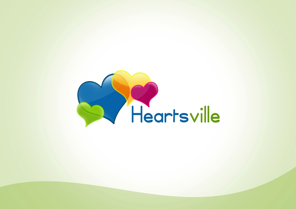 Logo Design by Respati Himawan - Entry No. 12 in the Logo Design Contest Unique Logo Design Wanted for Heartsville.
