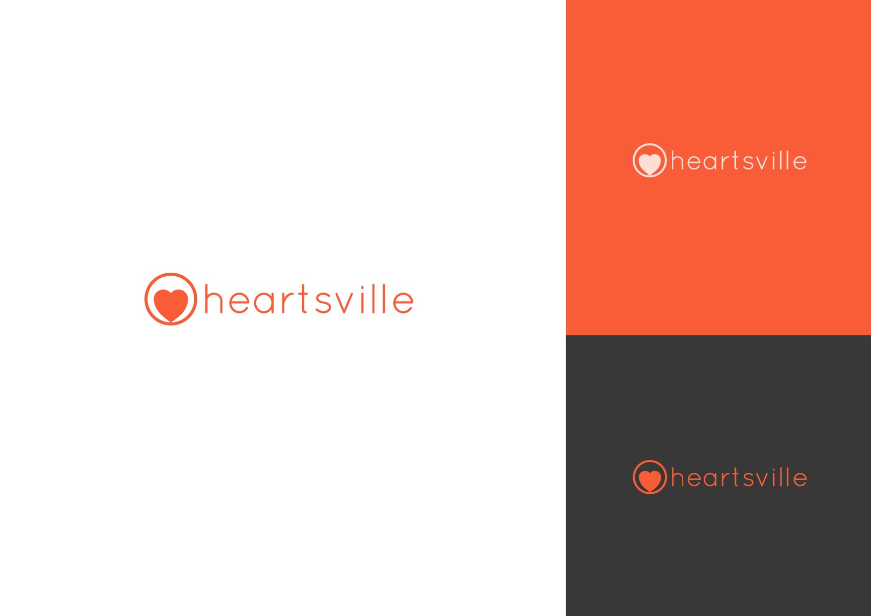 Logo Design by Osi Indra - Entry No. 13 in the Logo Design Contest Unique Logo Design Wanted for Heartsville.