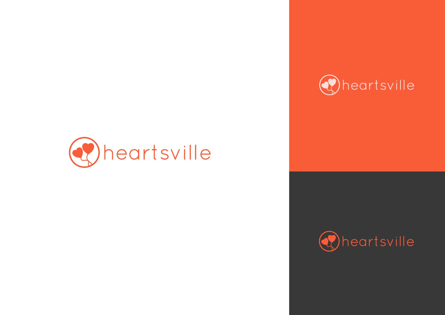 Logo Design by Osi Indra - Entry No. 14 in the Logo Design Contest Unique Logo Design Wanted for Heartsville.