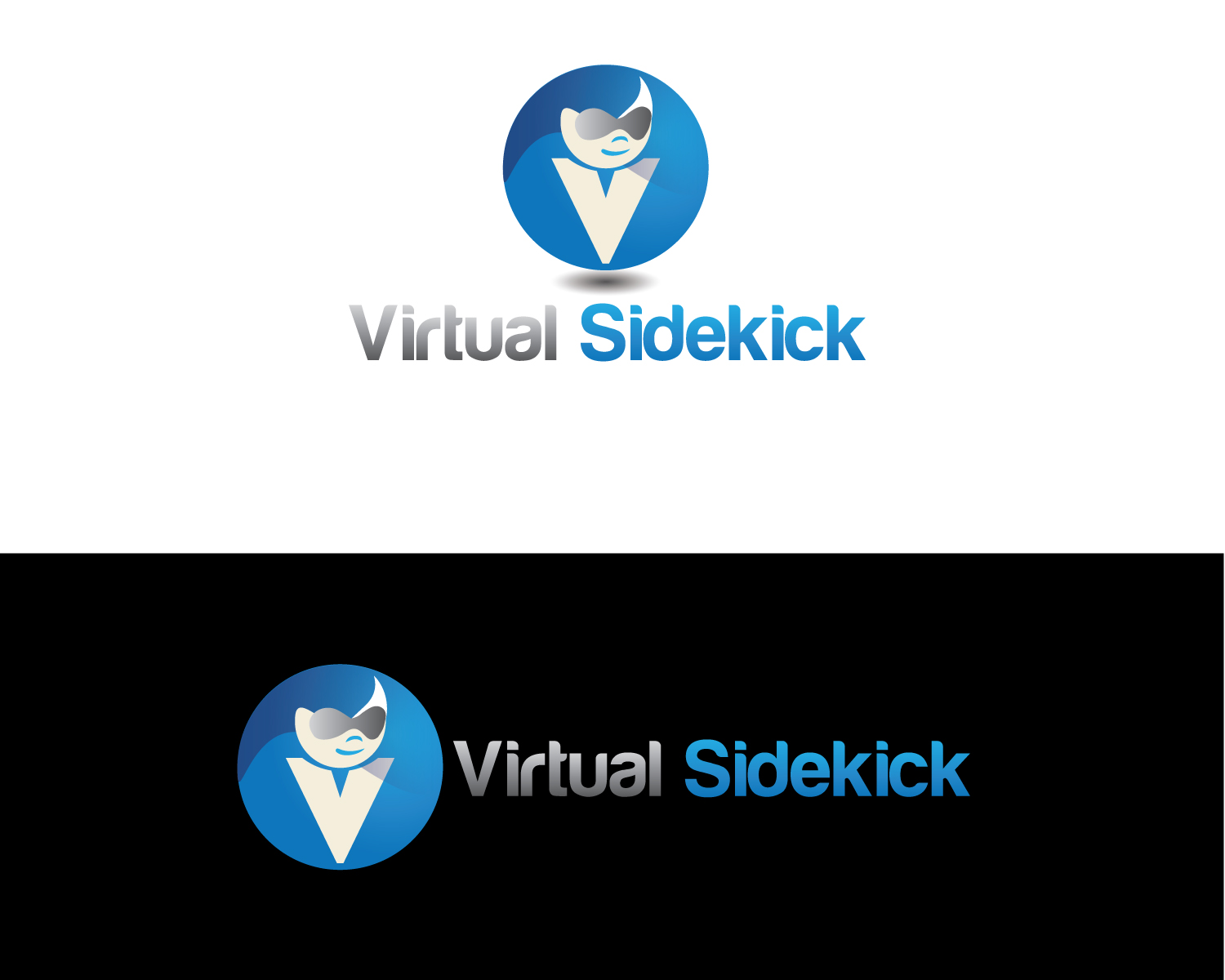 Logo Design by Jagdeep Singh - Entry No. 107 in the Logo Design Contest Fun Logo Design for Virtual Sidekick.