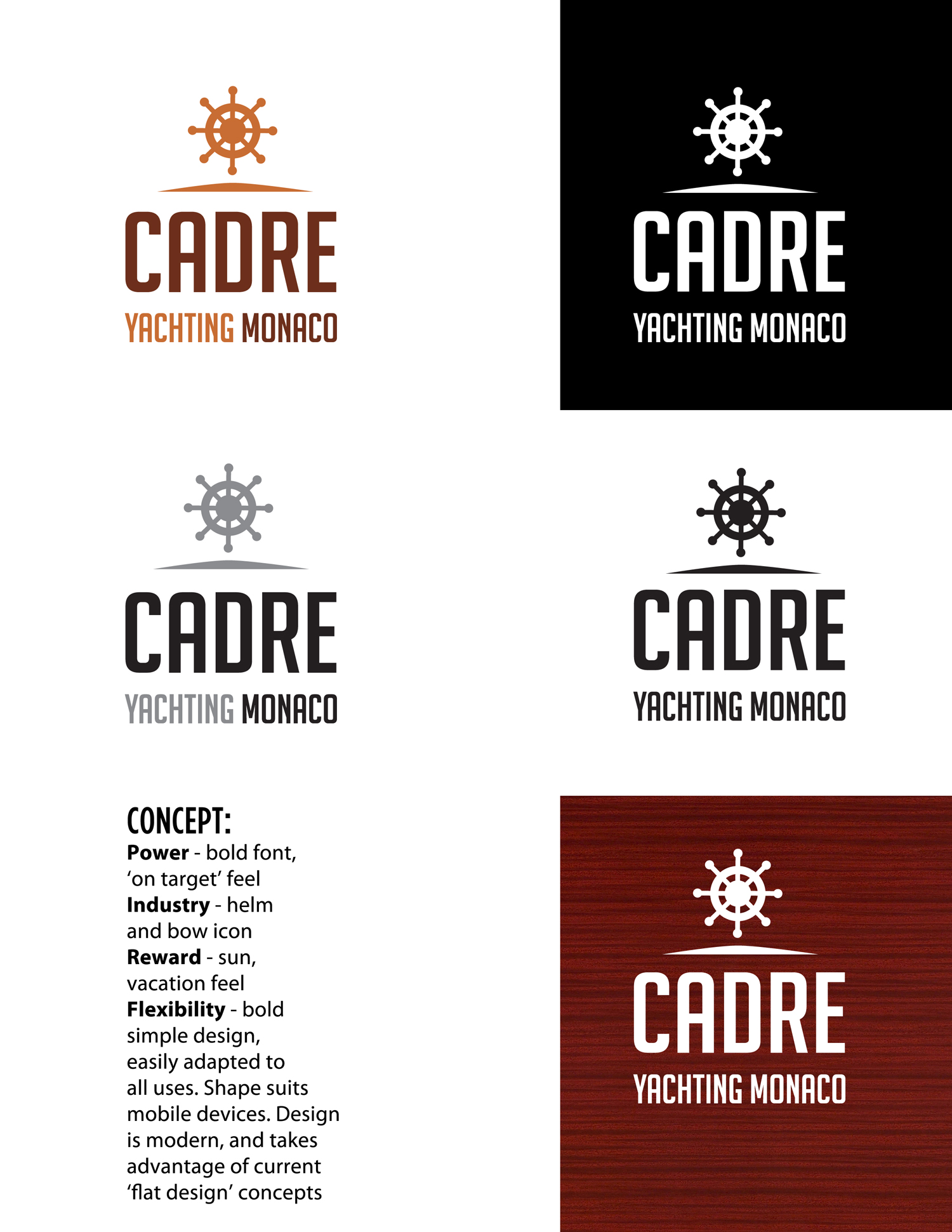Logo Design by Jude Goodwin - Entry No. 356 in the Logo Design Contest New Logo Design for Cadre Yachting Monaco.