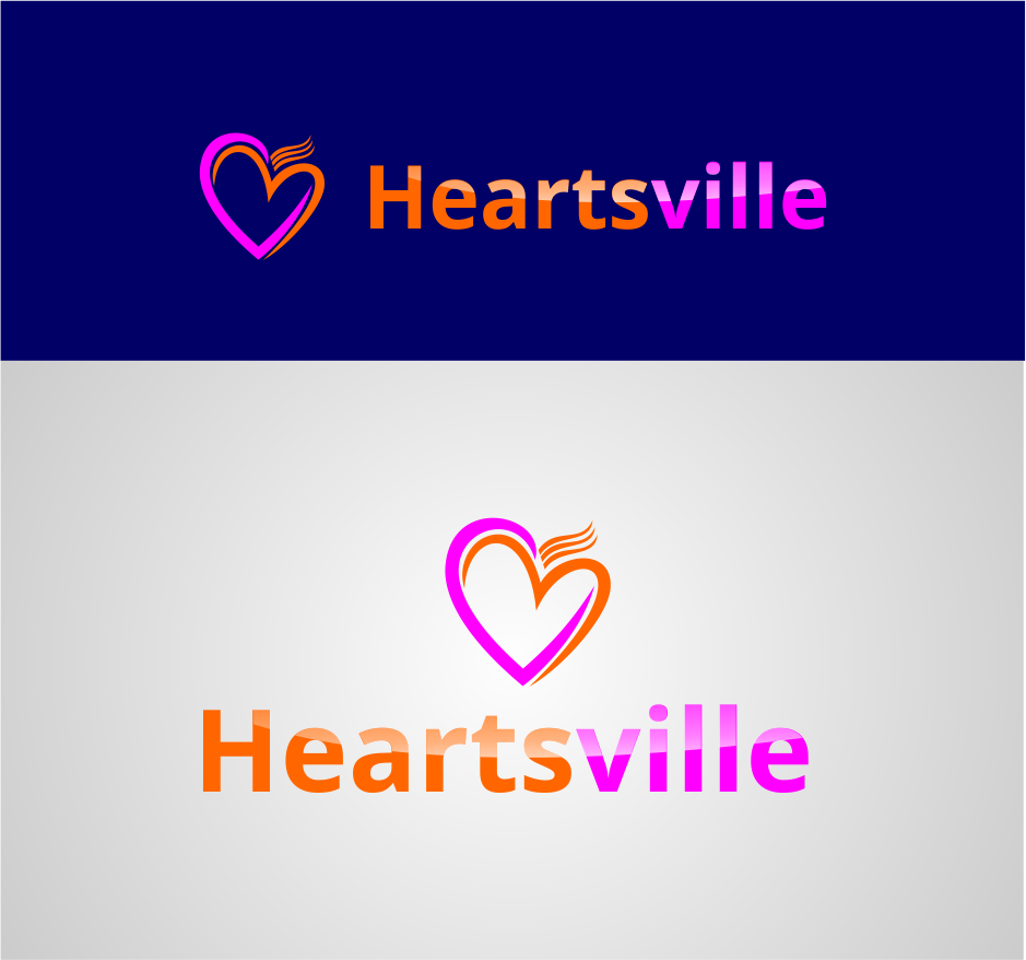 Logo Design by Agus Martoyo - Entry No. 16 in the Logo Design Contest Unique Logo Design Wanted for Heartsville.