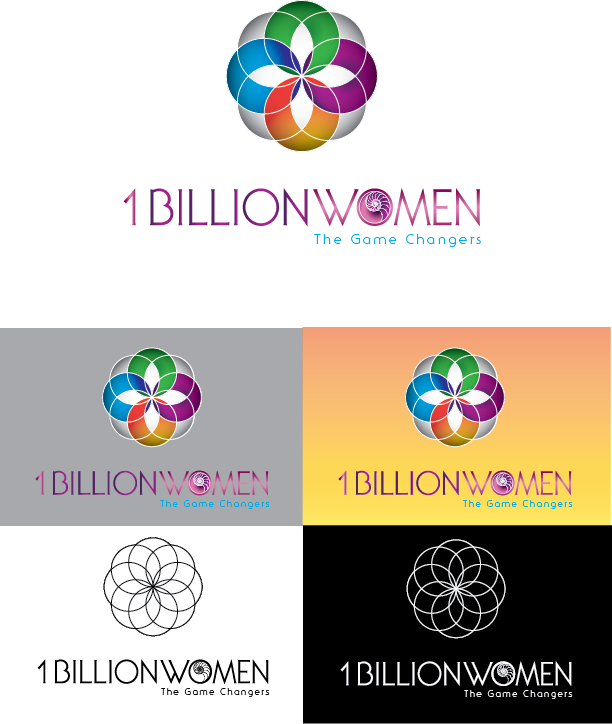 Logo Design by Chris Cowan - Entry No. 48 in the Logo Design Contest Fun Logo Design for 1BillionWomen.