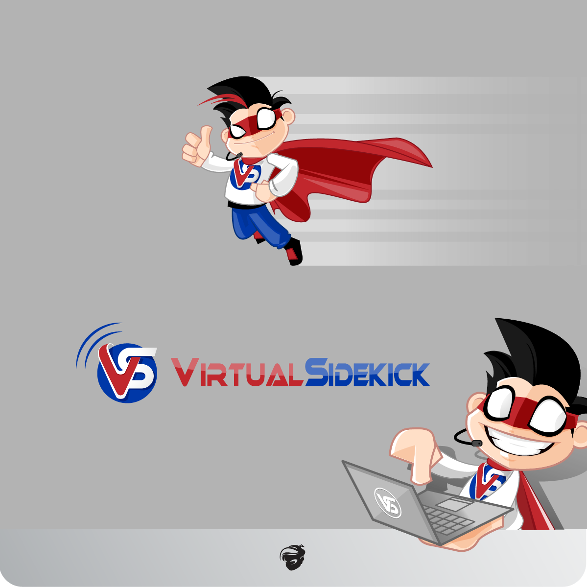 Logo Design by zesthar - Entry No. 124 in the Logo Design Contest Fun Logo Design for Virtual Sidekick.