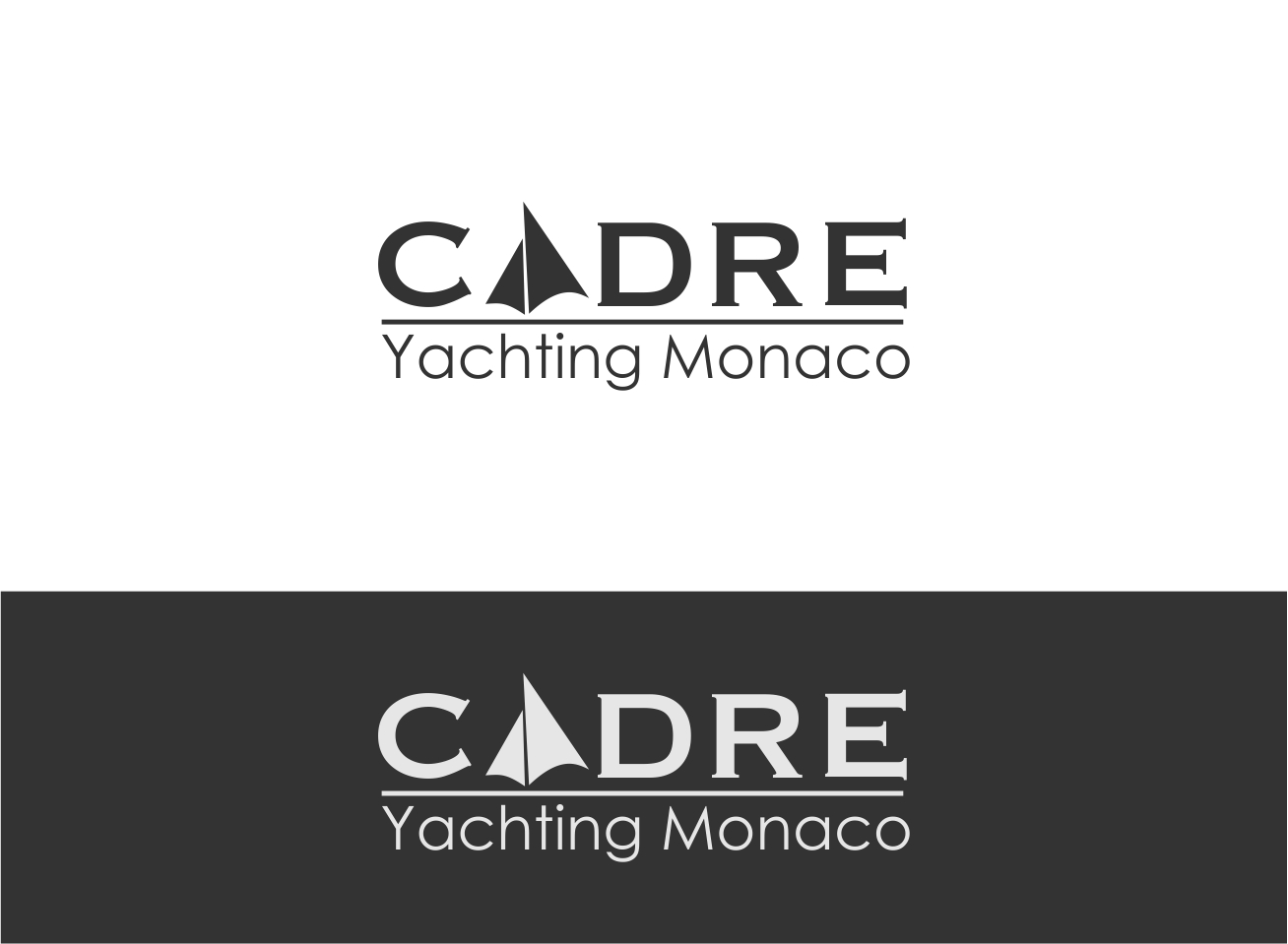 Logo Design by dzoker - Entry No. 361 in the Logo Design Contest New Logo Design for Cadre Yachting Monaco.