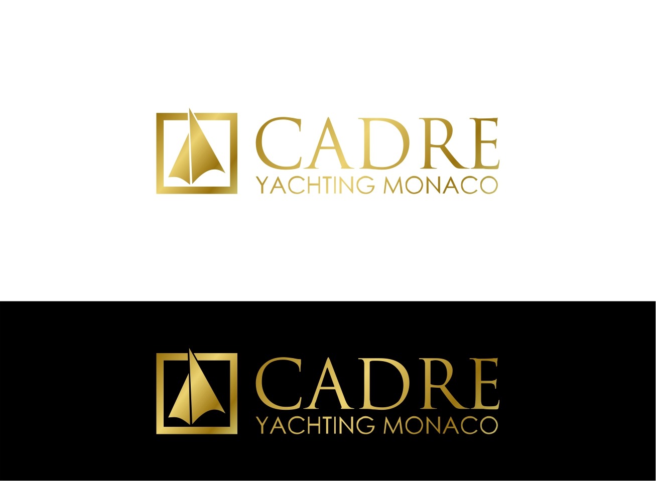 Logo Design by dzoker - Entry No. 363 in the Logo Design Contest New Logo Design for Cadre Yachting Monaco.