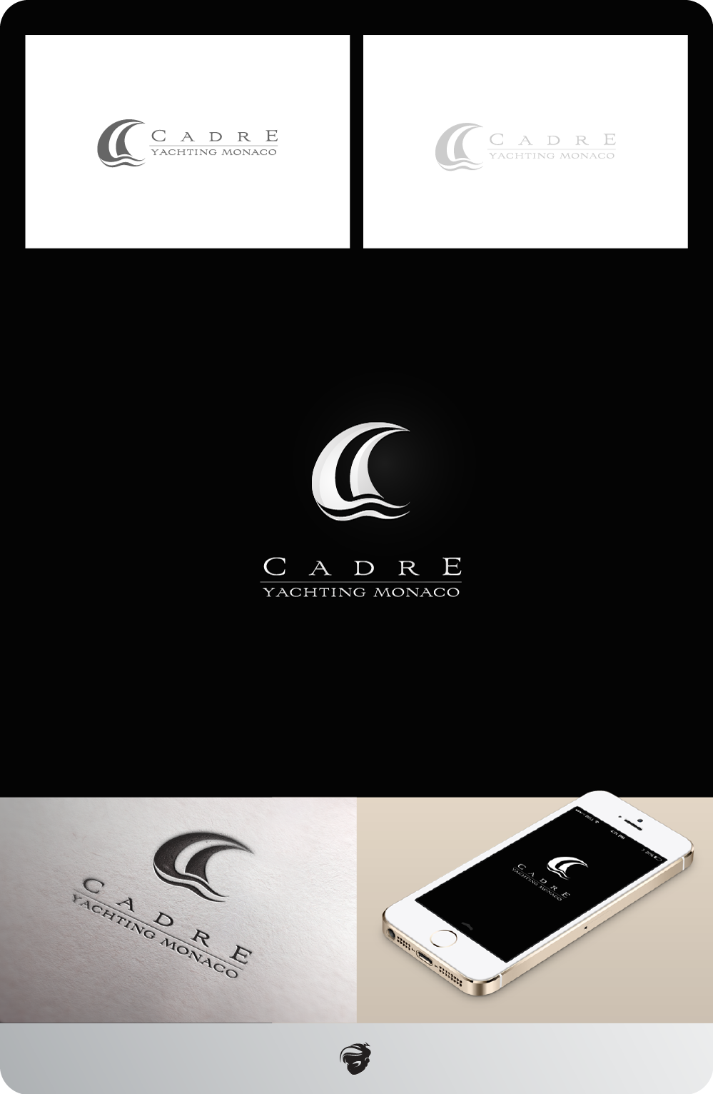 Logo Design by zesthar - Entry No. 364 in the Logo Design Contest New Logo Design for Cadre Yachting Monaco.