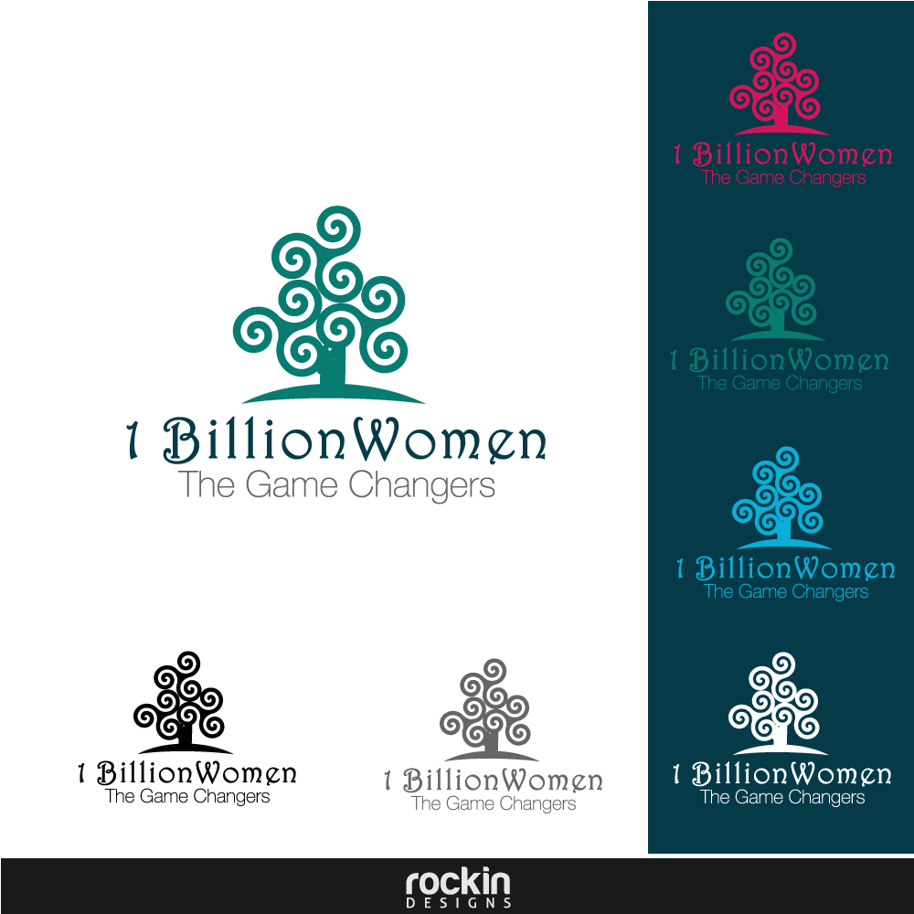 Logo Design by rockin - Entry No. 64 in the Logo Design Contest Fun Logo Design for 1BillionWomen.