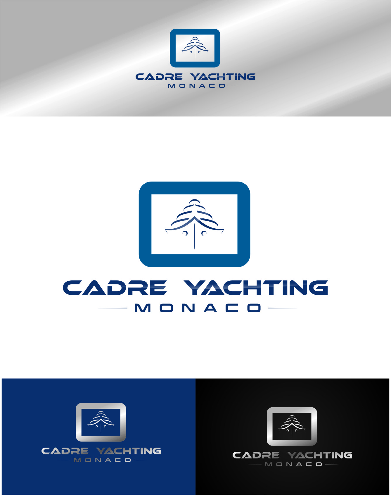 Logo Design by Ngepet_art - Entry No. 365 in the Logo Design Contest New Logo Design for Cadre Yachting Monaco.