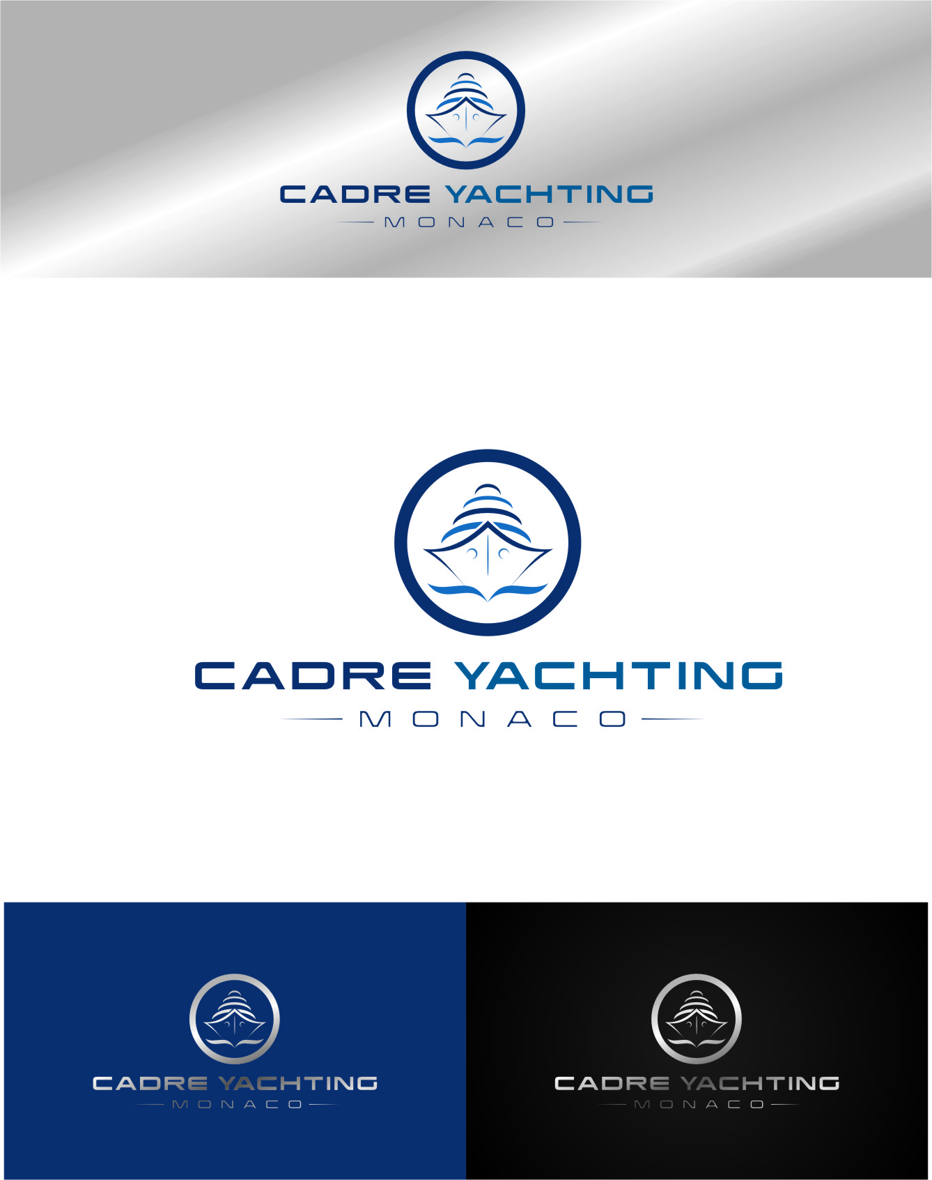 Logo Design by RoSyid Rono-Rene On Java - Entry No. 366 in the Logo Design Contest New Logo Design for Cadre Yachting Monaco.