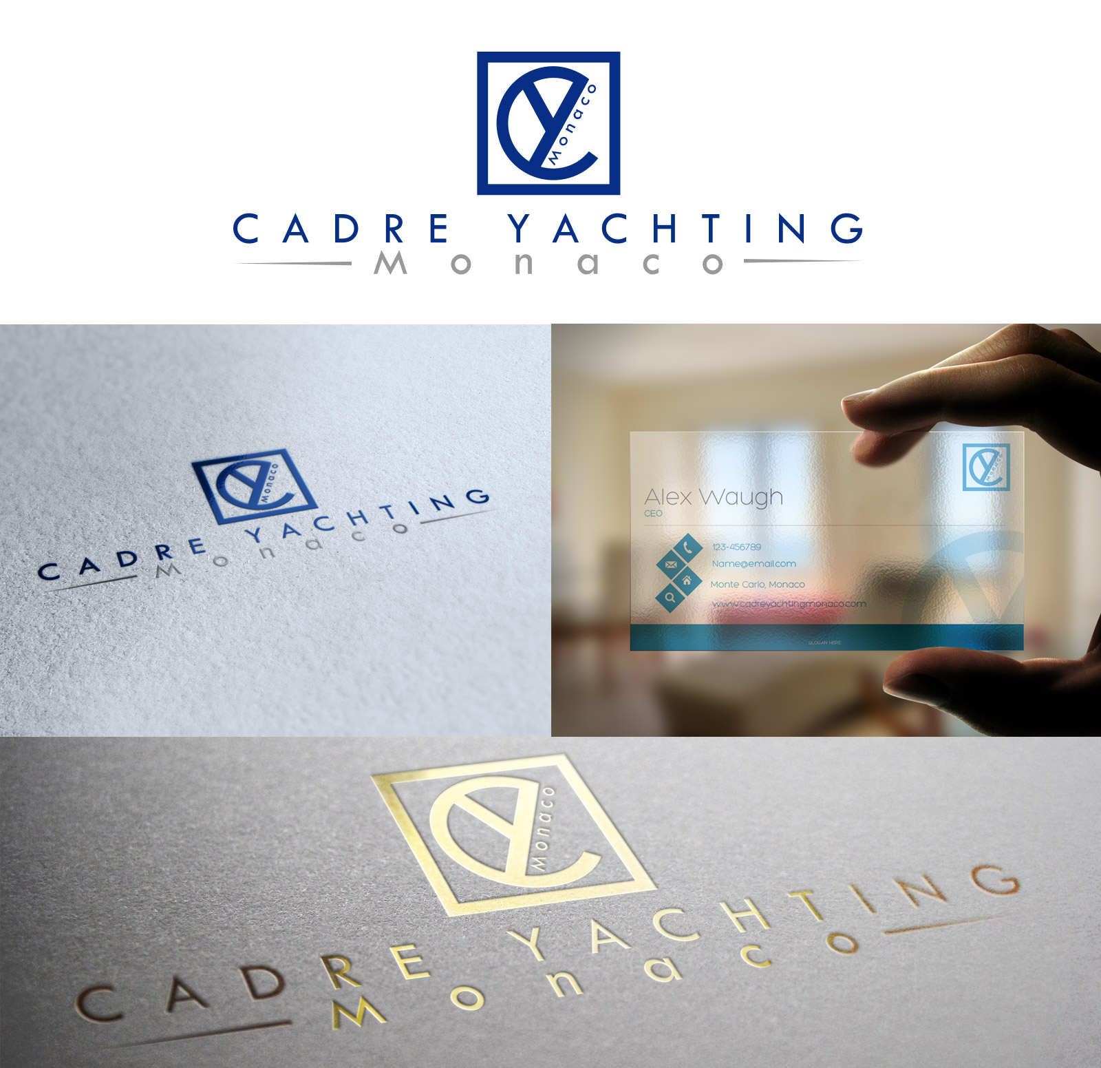 Logo Design by olii - Entry No. 368 in the Logo Design Contest New Logo Design for Cadre Yachting Monaco.