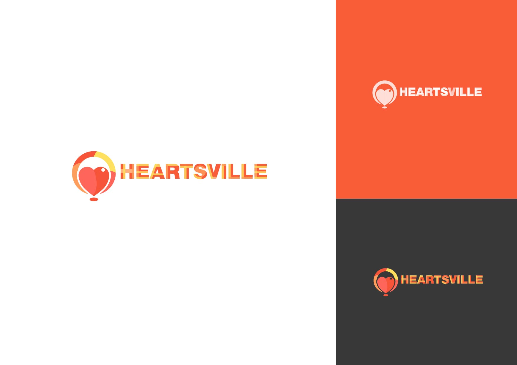 Logo Design by Osi Indra - Entry No. 17 in the Logo Design Contest Unique Logo Design Wanted for Heartsville.