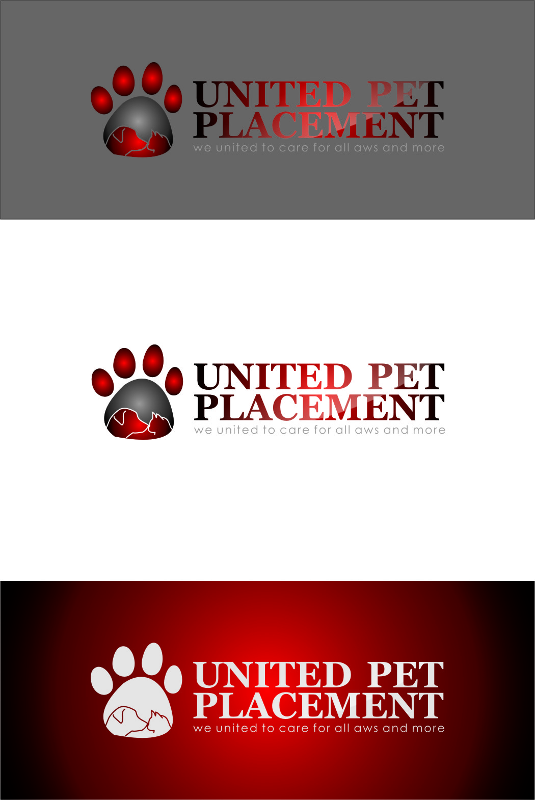 Logo Design by RoSyid Rono-Rene On Java - Entry No. 15 in the Logo Design Contest Artistic Logo Design for united pet placement.