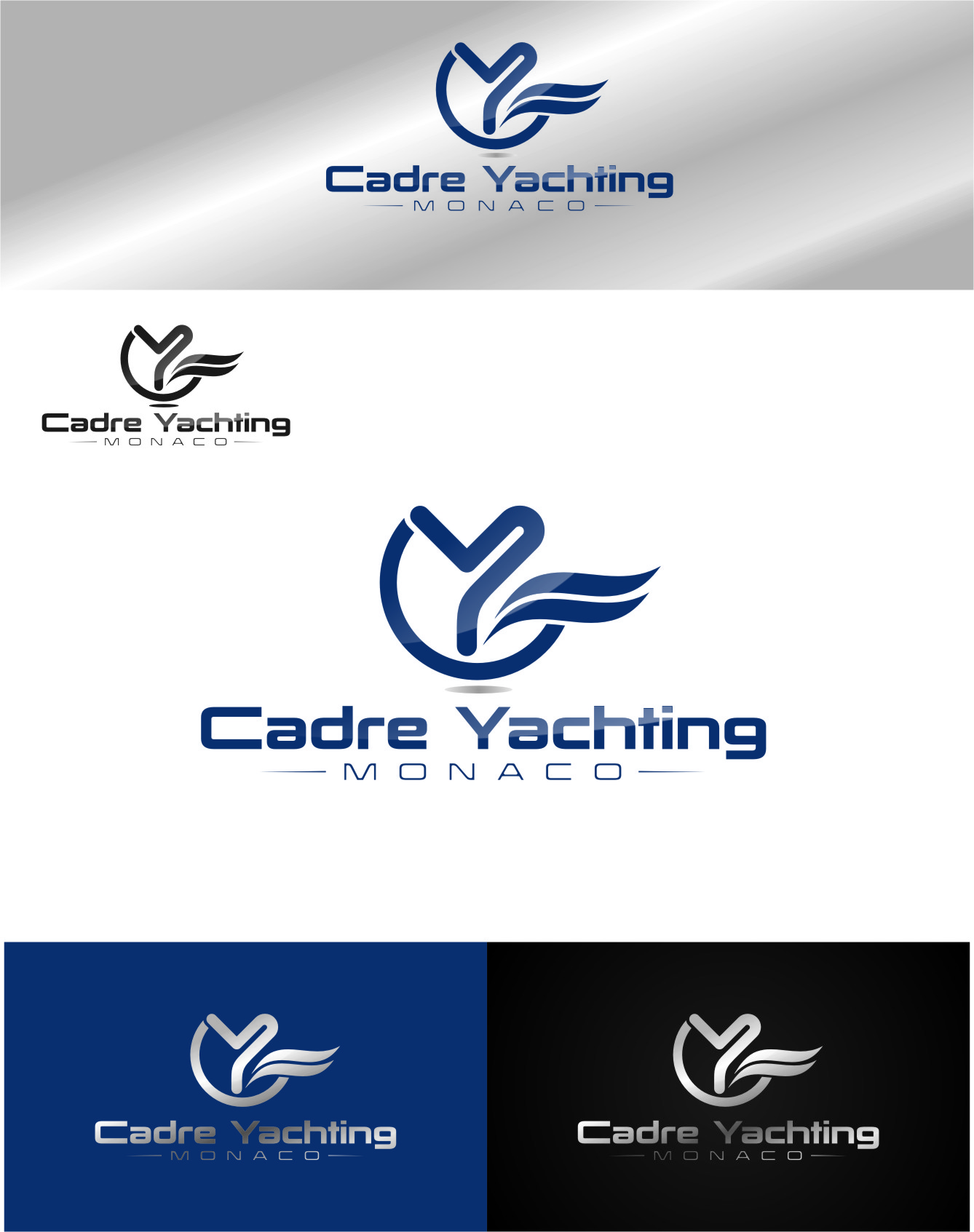 Logo Design by RasYa Muhammad Athaya - Entry No. 382 in the Logo Design Contest New Logo Design for Cadre Yachting Monaco.