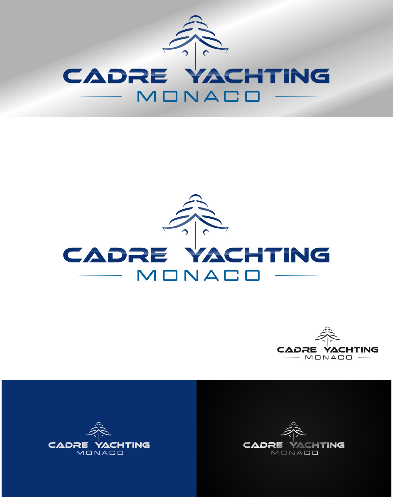Logo Design by RasYa Muhammad Athaya - Entry No. 393 in the Logo Design Contest New Logo Design for Cadre Yachting Monaco.