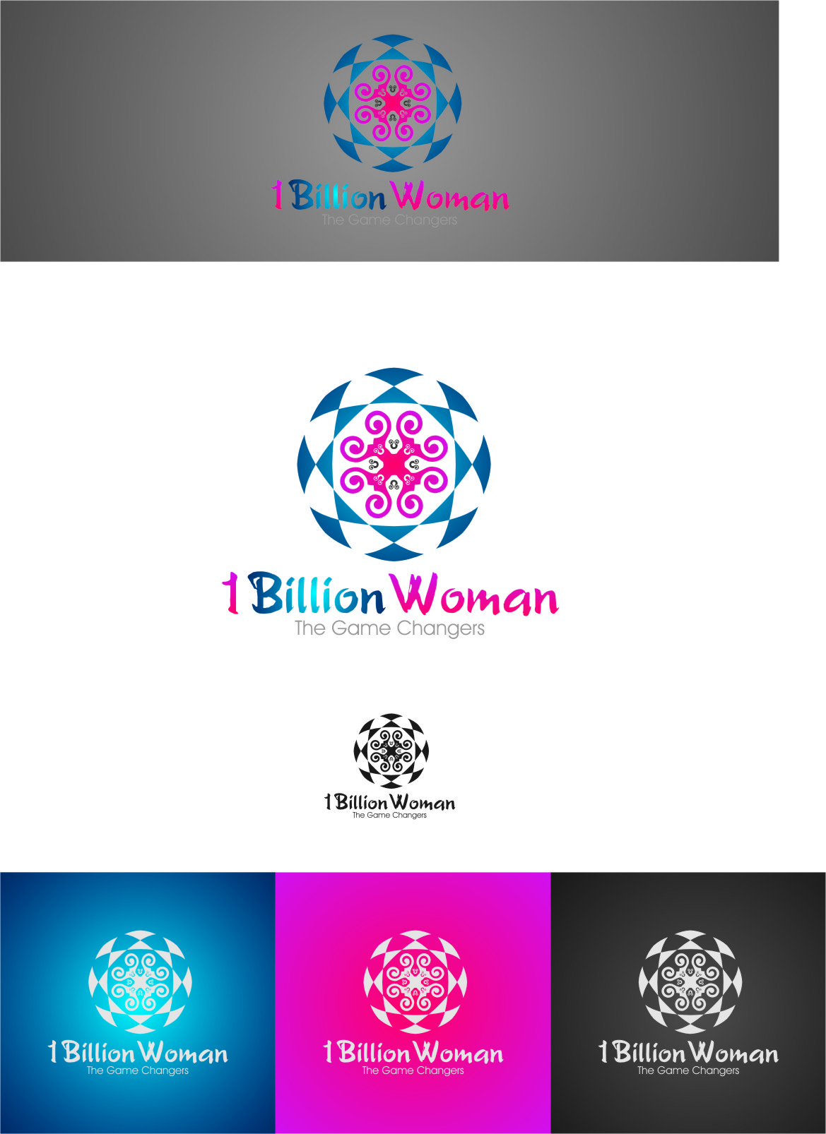 Logo Design by RasYa Muhammad Athaya - Entry No. 77 in the Logo Design Contest Fun Logo Design for 1BillionWomen.