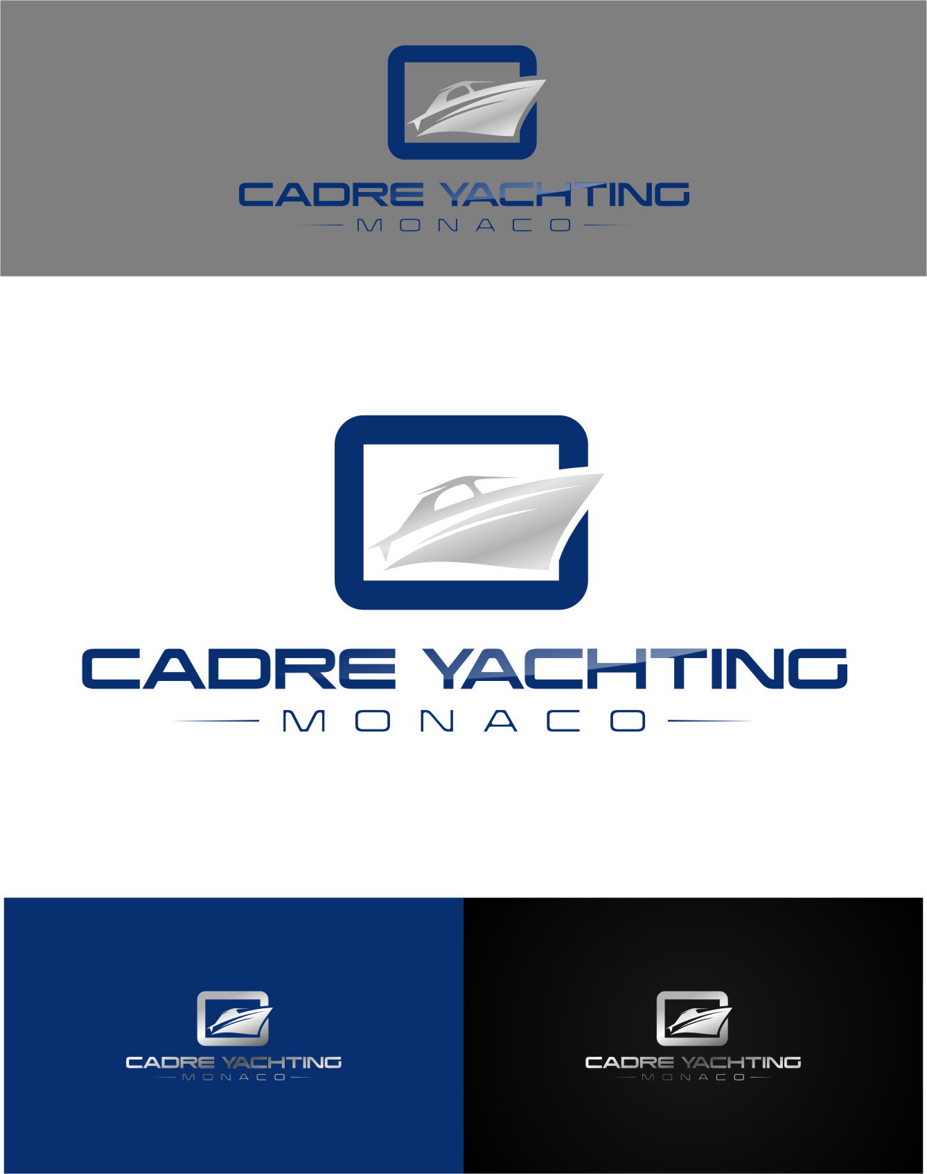 Logo Design by RoSyid Rono-Rene On Java - Entry No. 401 in the Logo Design Contest New Logo Design for Cadre Yachting Monaco.