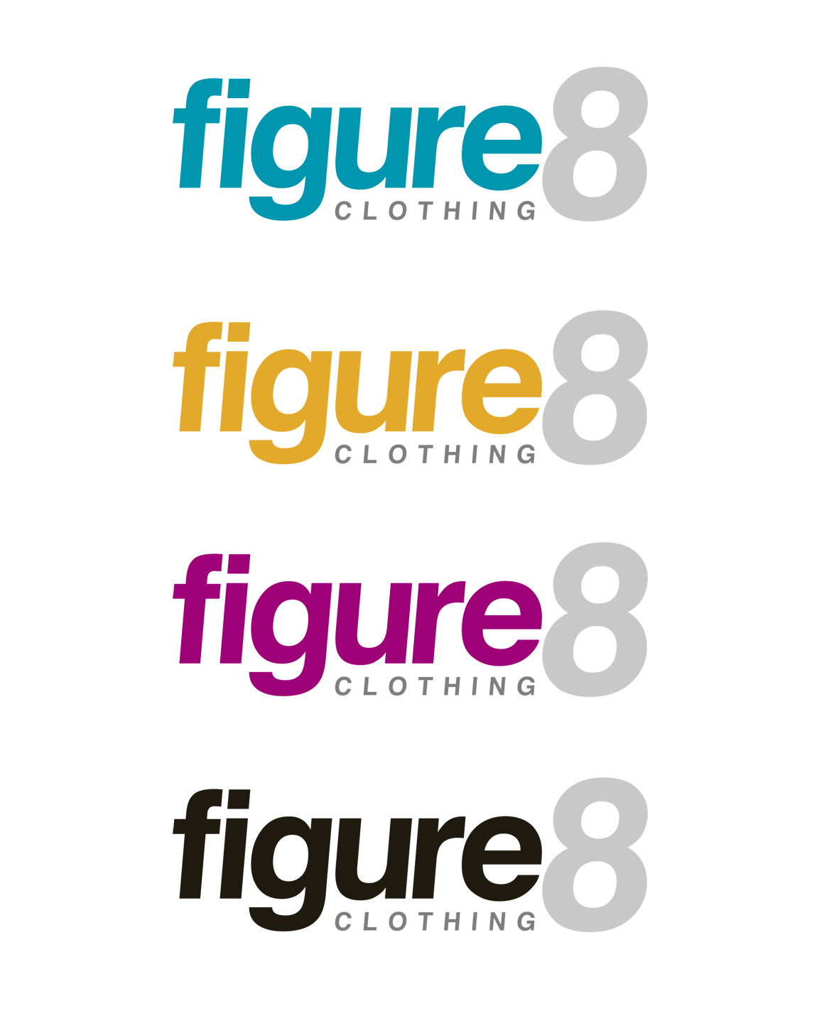 Logo Design by moidgreat - Entry No. 80 in the Logo Design Contest Artistic Logo Design for Figure Eight Clothing.