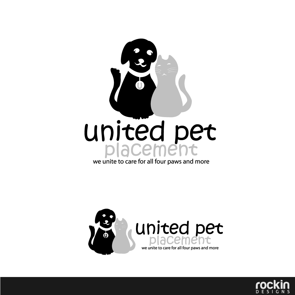 Logo Design by rockin - Entry No. 25 in the Logo Design Contest Artistic Logo Design for united pet placement.