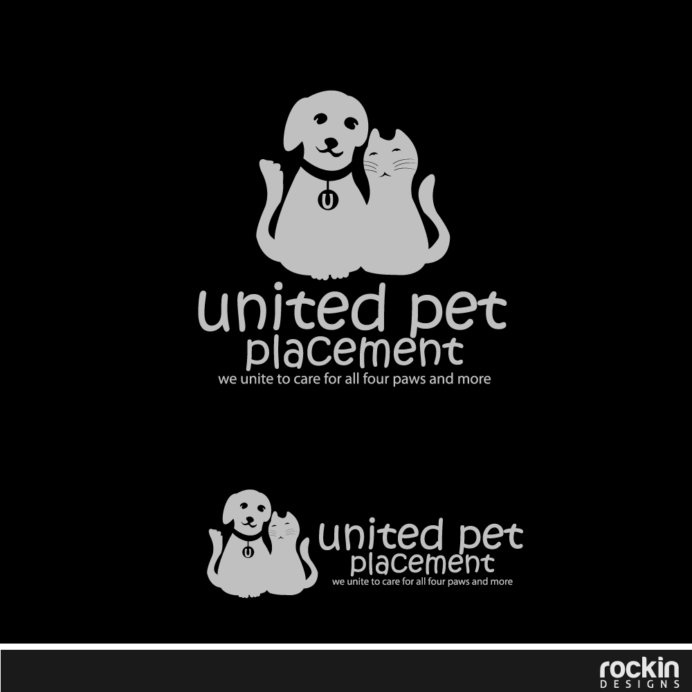 Logo Design by rockin - Entry No. 26 in the Logo Design Contest Artistic Logo Design for united pet placement.