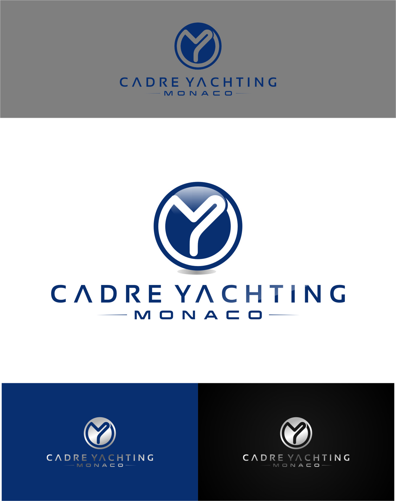 Logo Design by RasYa Muhammad Athaya - Entry No. 411 in the Logo Design Contest New Logo Design for Cadre Yachting Monaco.